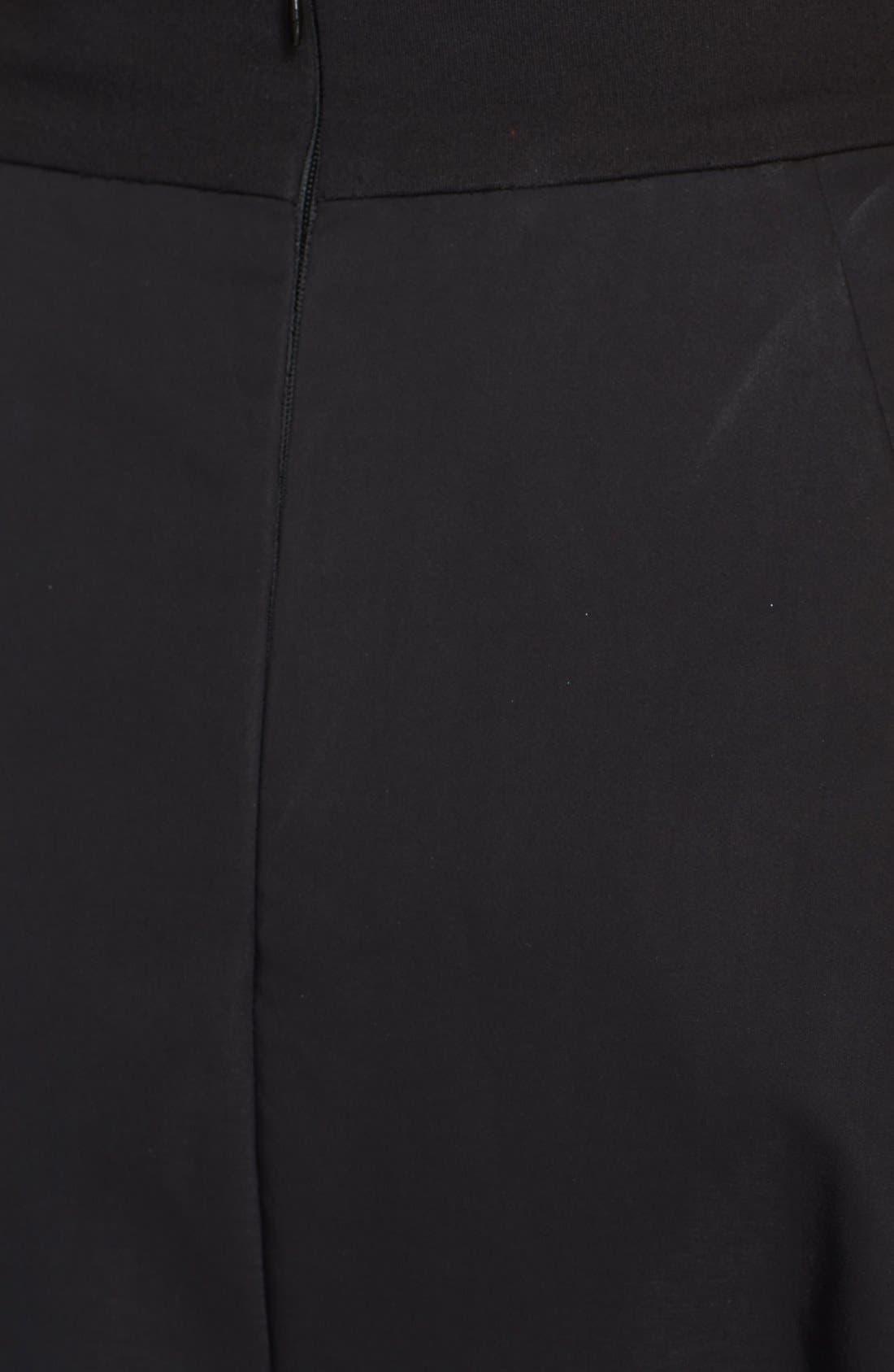 Donna Karan Collection Cotton Taffeta Skirt,                             Alternate thumbnail 2, color,                             001
