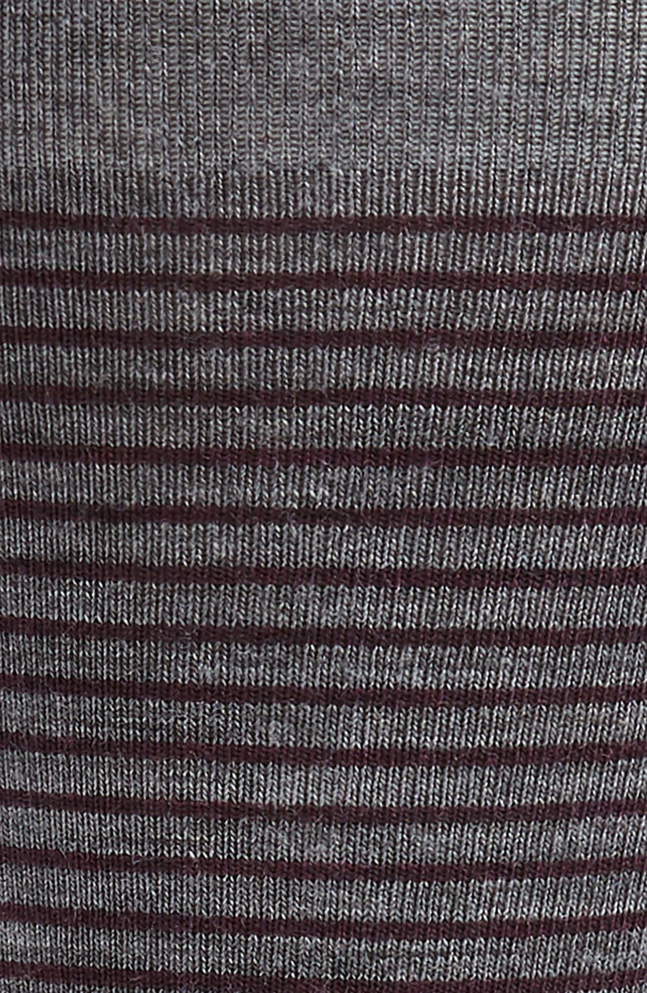Flying J Stripe Socks,                             Alternate thumbnail 2, color,                             MEDIUM GREY HEATHER