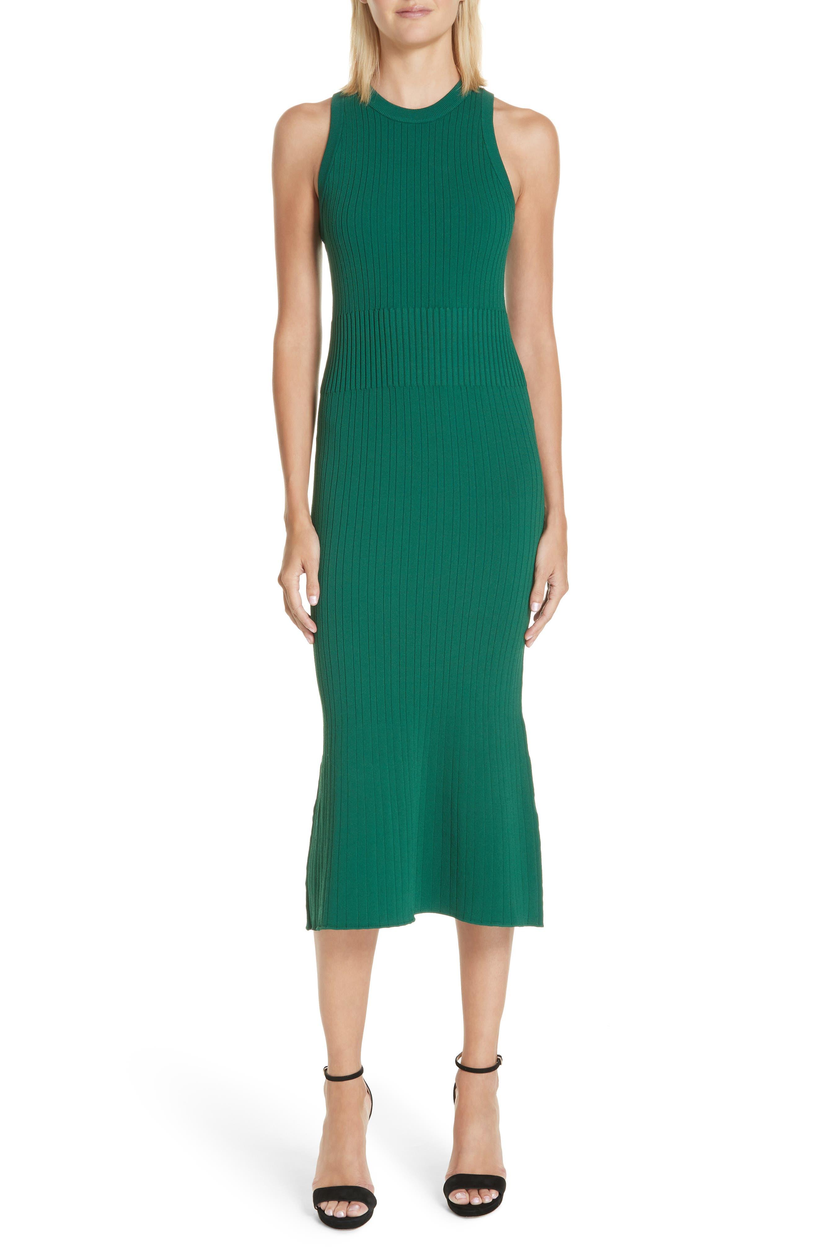 Rib Knit Midi Dress,                             Main thumbnail 1, color,