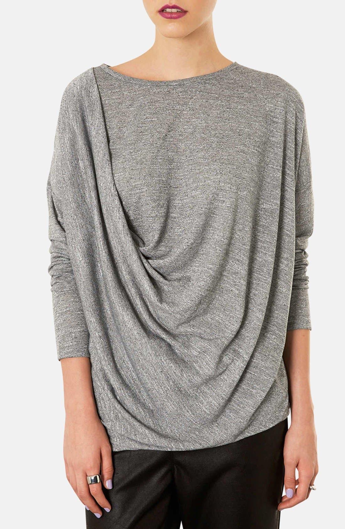 Long Sleeve Drape Top, Main, color, 050
