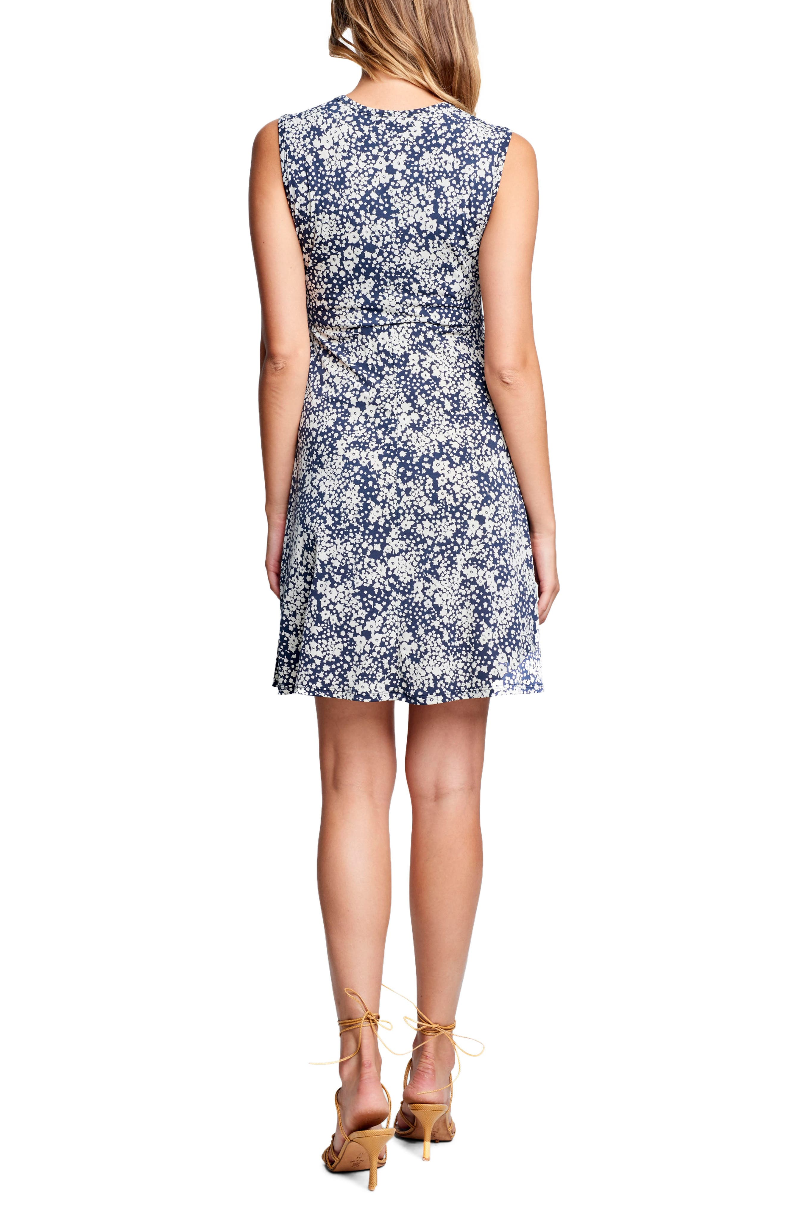 Tie Front Maternity Dress,                             Alternate thumbnail 2, color,                             DITSY FLORAL