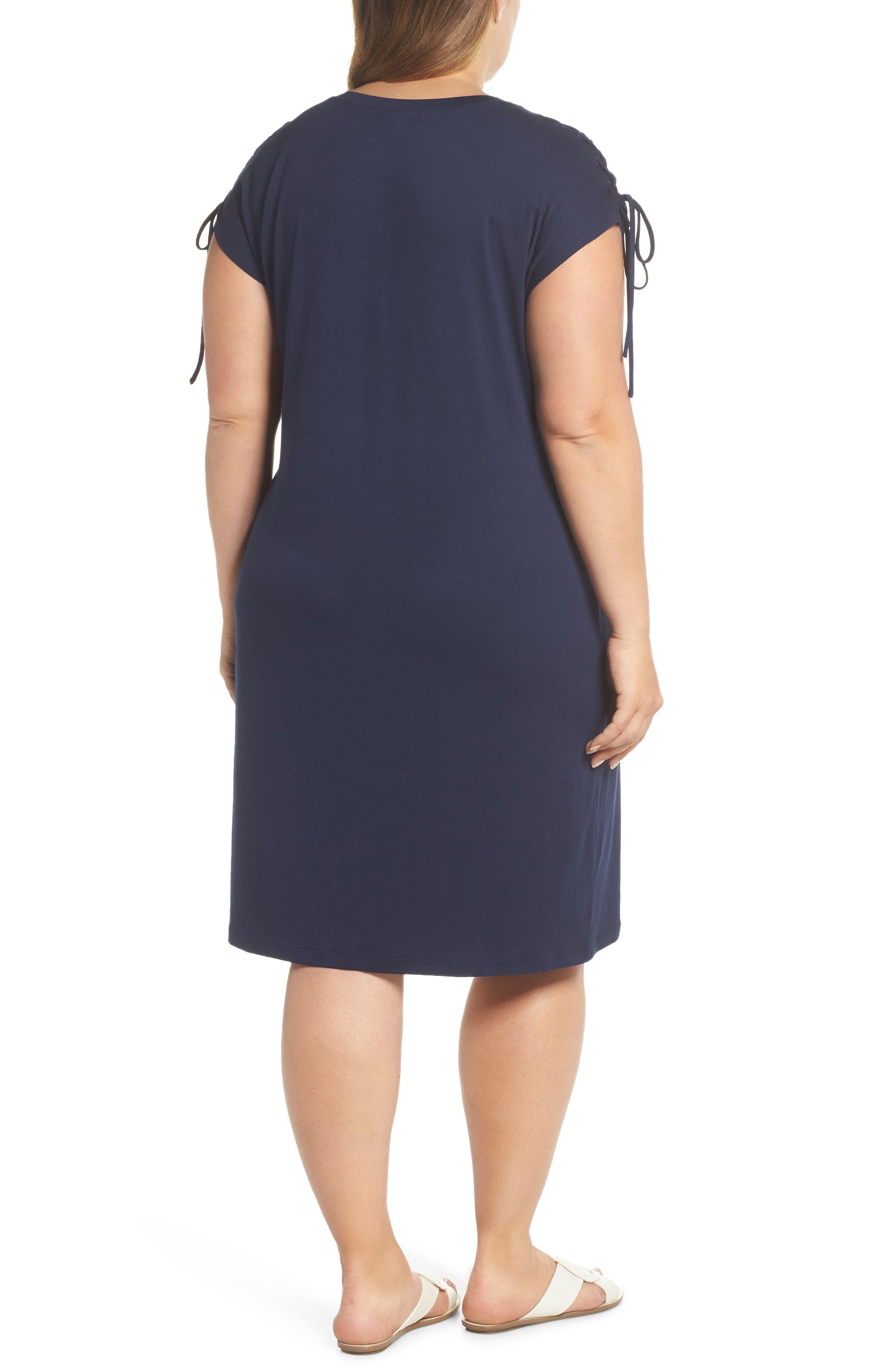 VINCE CAMUTO,                             Lace-Up Shoulder T-Shirt Dress,                             Alternate thumbnail 2, color,                             461