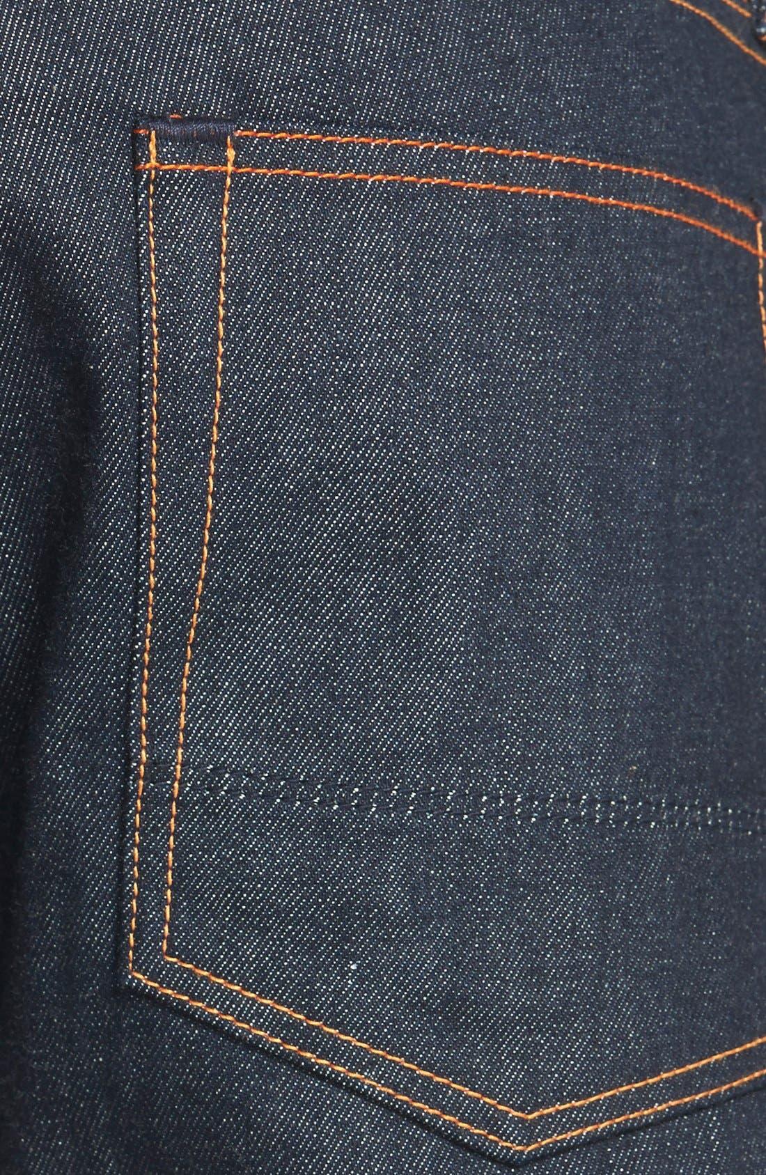 'Rocker' Straight Leg Selvedge Jeans,                             Alternate thumbnail 4, color,                             419