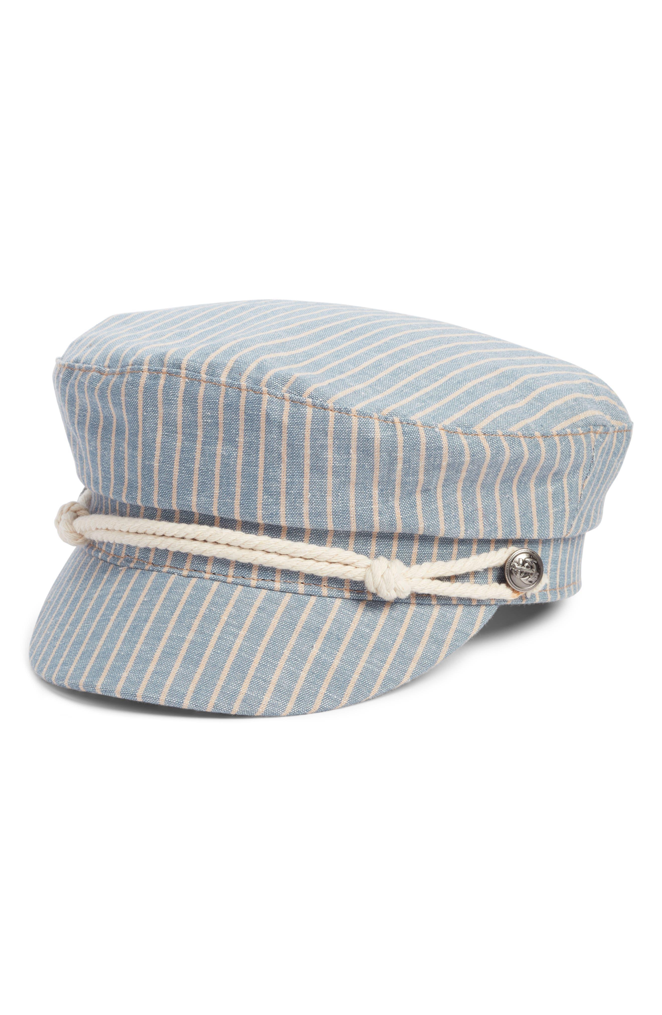 BP.,                             Rope Detail Stripe Baker Boy Hat,                             Main thumbnail 1, color,                             400