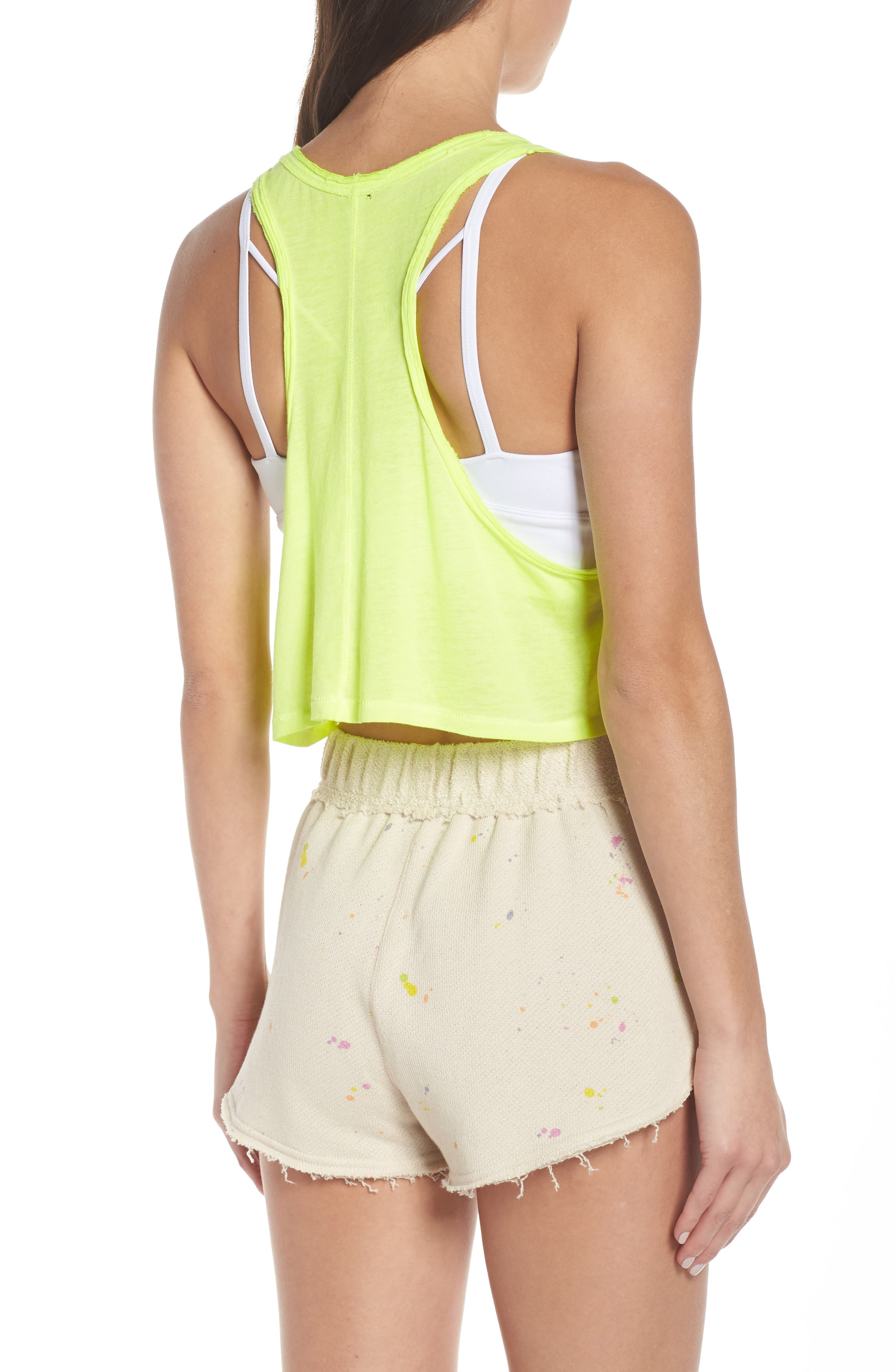 FREE PEOPLE MOVEMENT,                             Sunny Days Cropped Tank Top,                             Alternate thumbnail 2, color,                             LIME