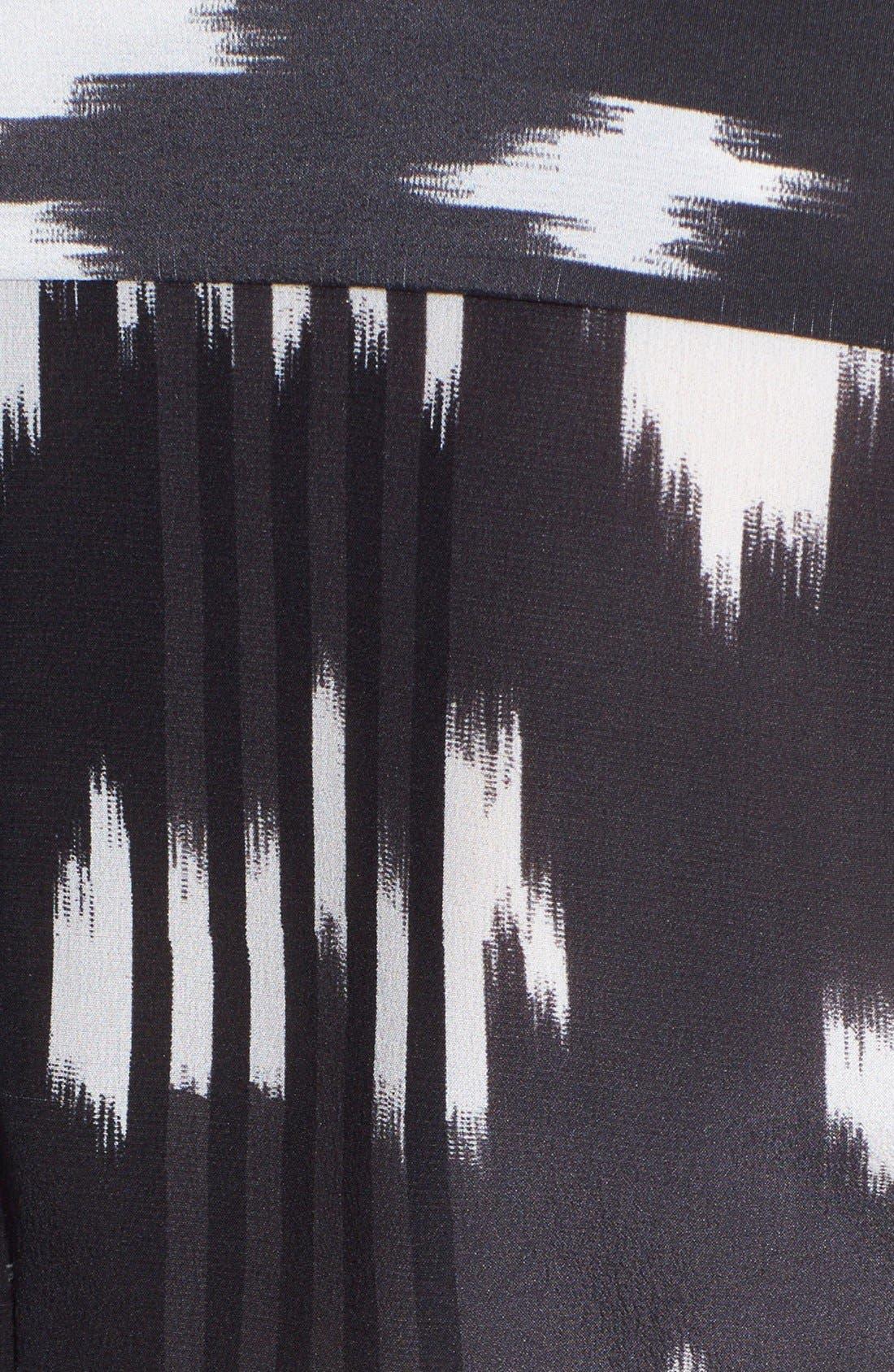 'Chika' Ikat Print Silk Blouse,                             Alternate thumbnail 4, color,                             002