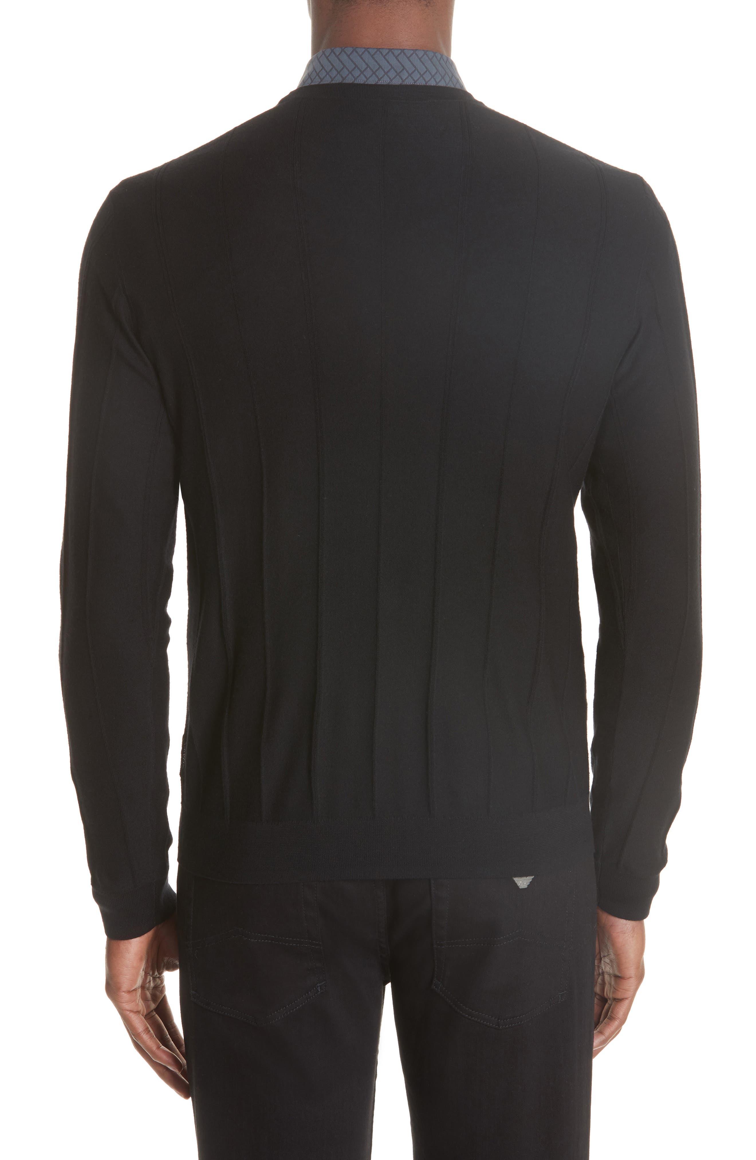 Crewneck Wool Sweater,                             Alternate thumbnail 2, color,                             BLACK