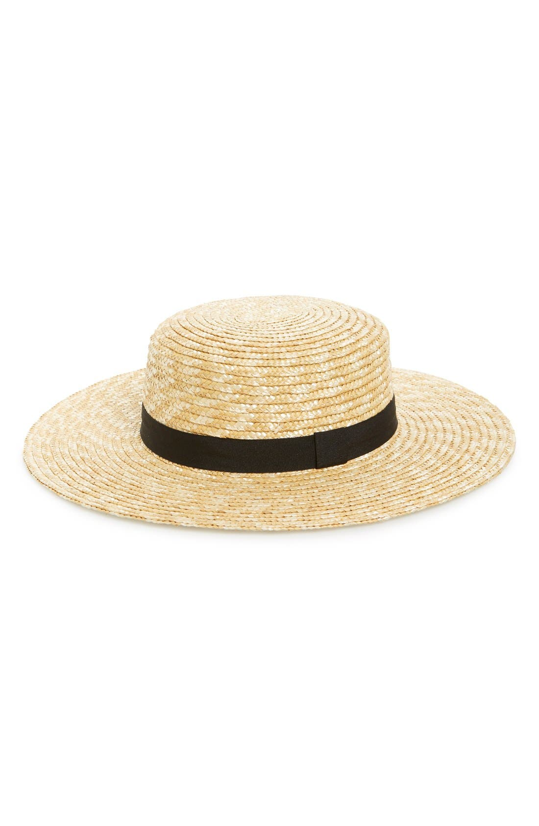 Straw Boater Hat,                             Main thumbnail 1, color,