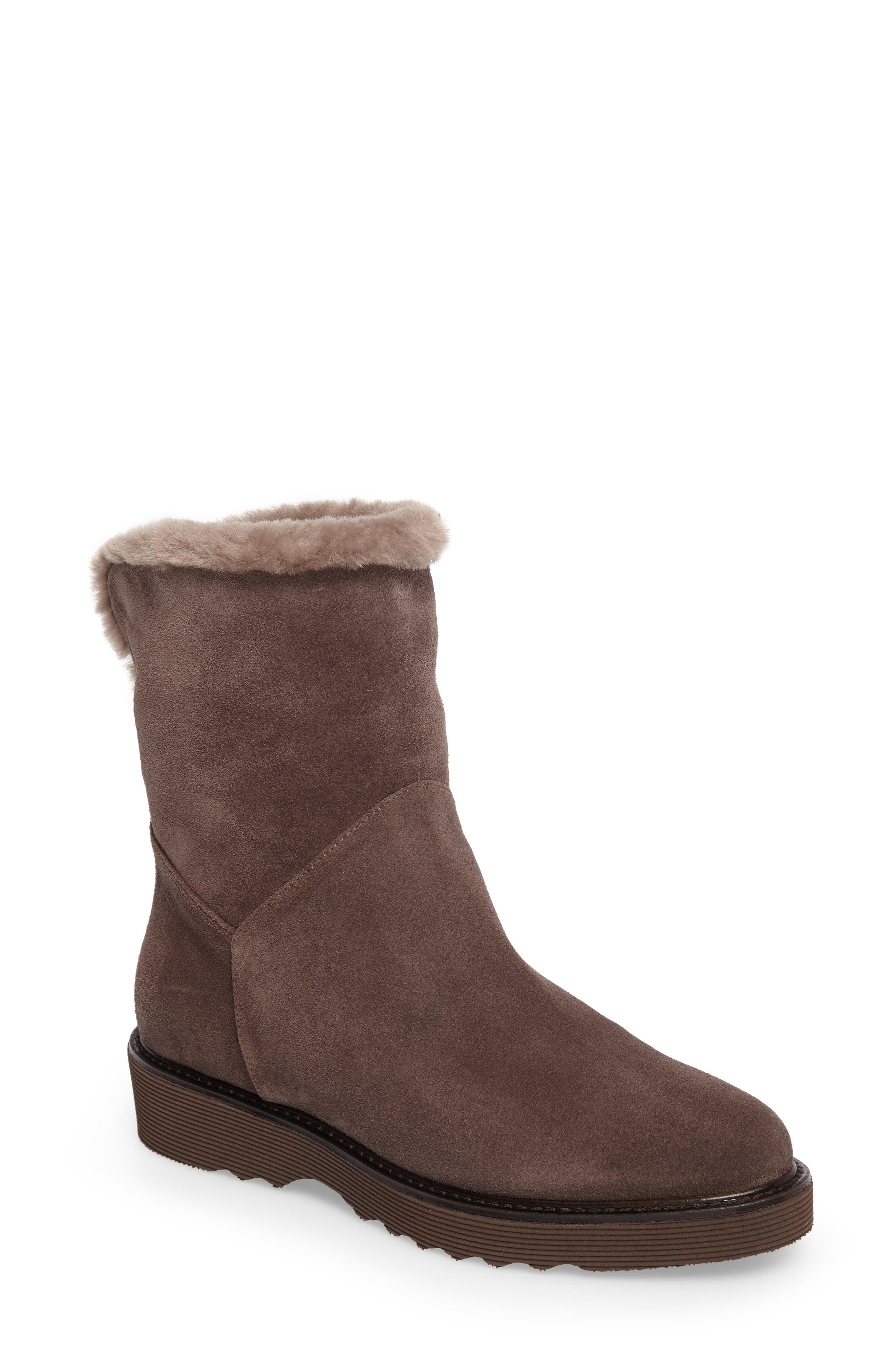 Kimberly Weatherproof Genuine Shearling Bootie,                             Main thumbnail 3, color,