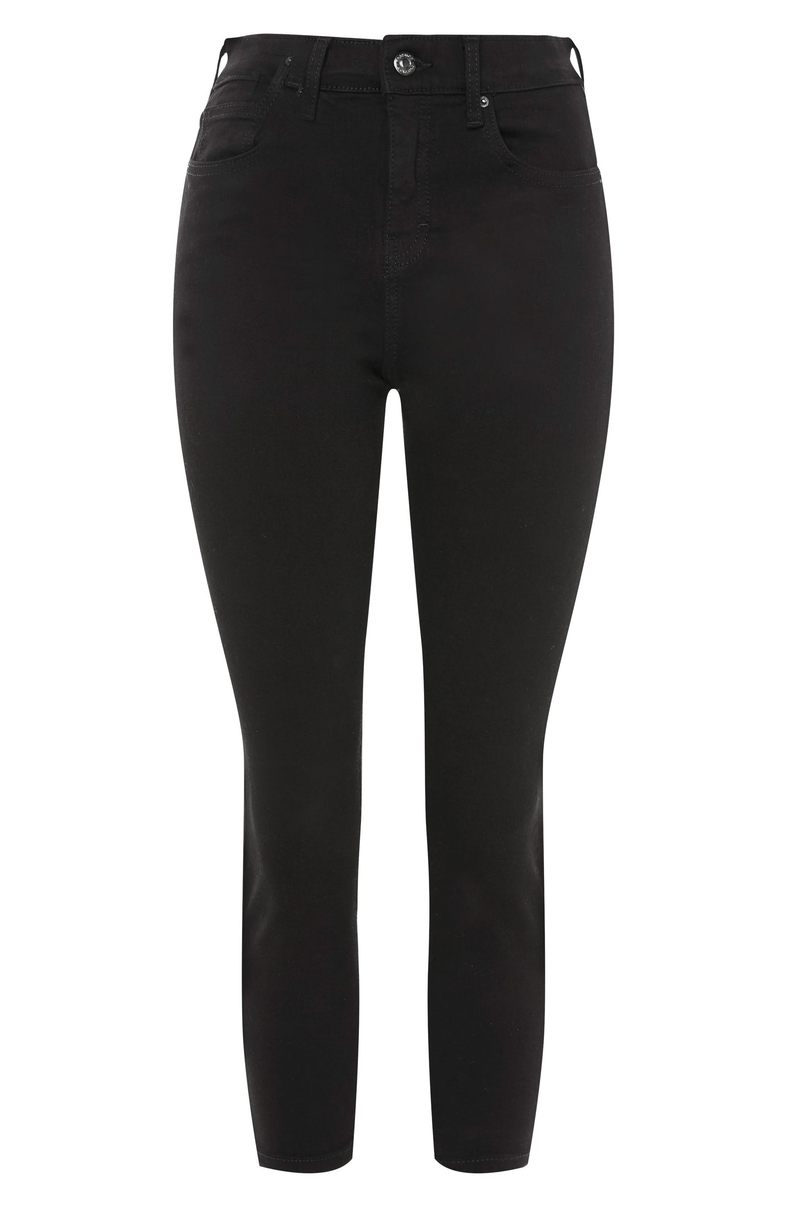 Jamie Petite Black Jeans,                             Alternate thumbnail 3, color,                             BLACK