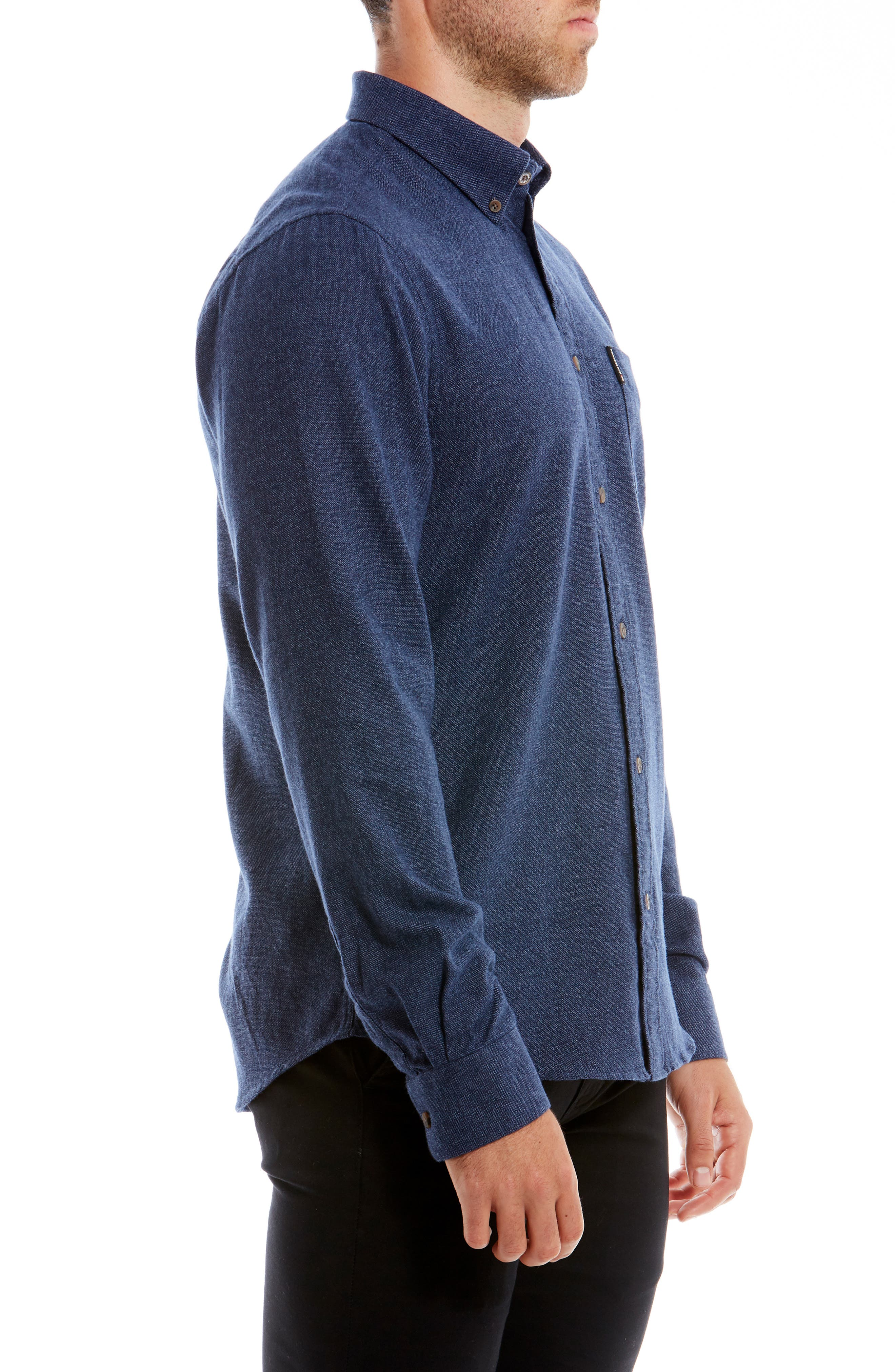 Twisted Brushed Trim Fit Sport Shirt,                             Alternate thumbnail 4, color,                             400