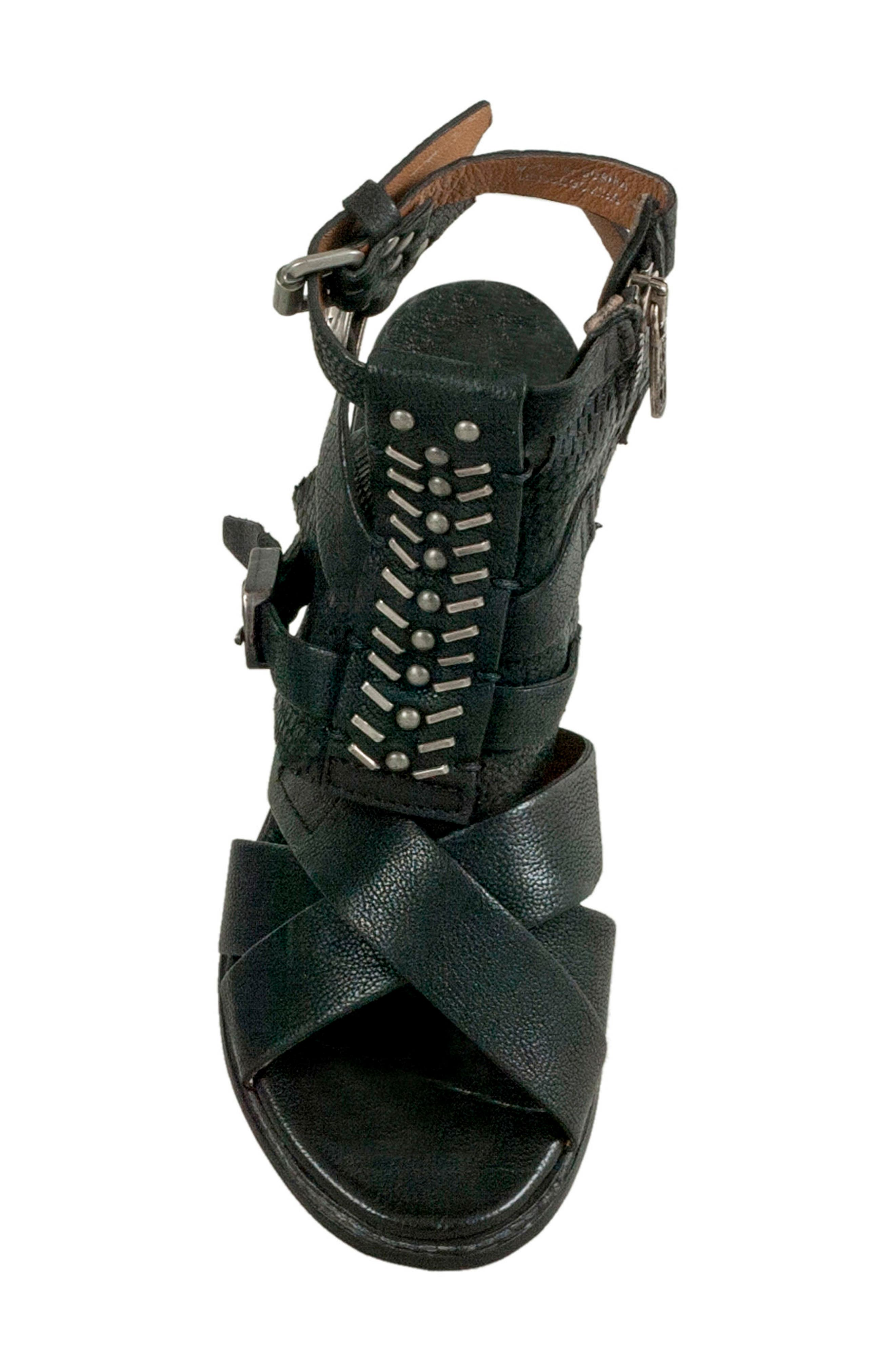 A.S.98,                             Pennie Gladiator Sandal,                             Alternate thumbnail 5, color,                             001