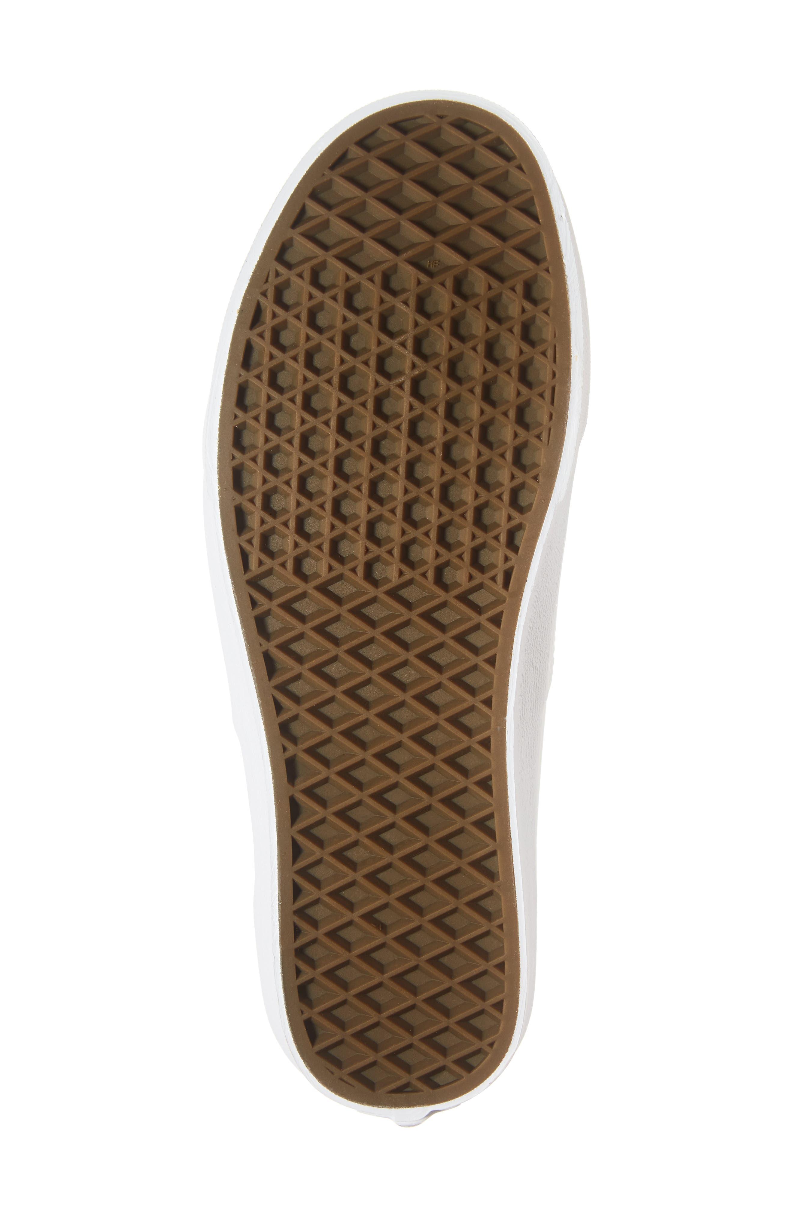 Authentic Buck Sneaker,                             Alternate thumbnail 6, color,                             WHITE