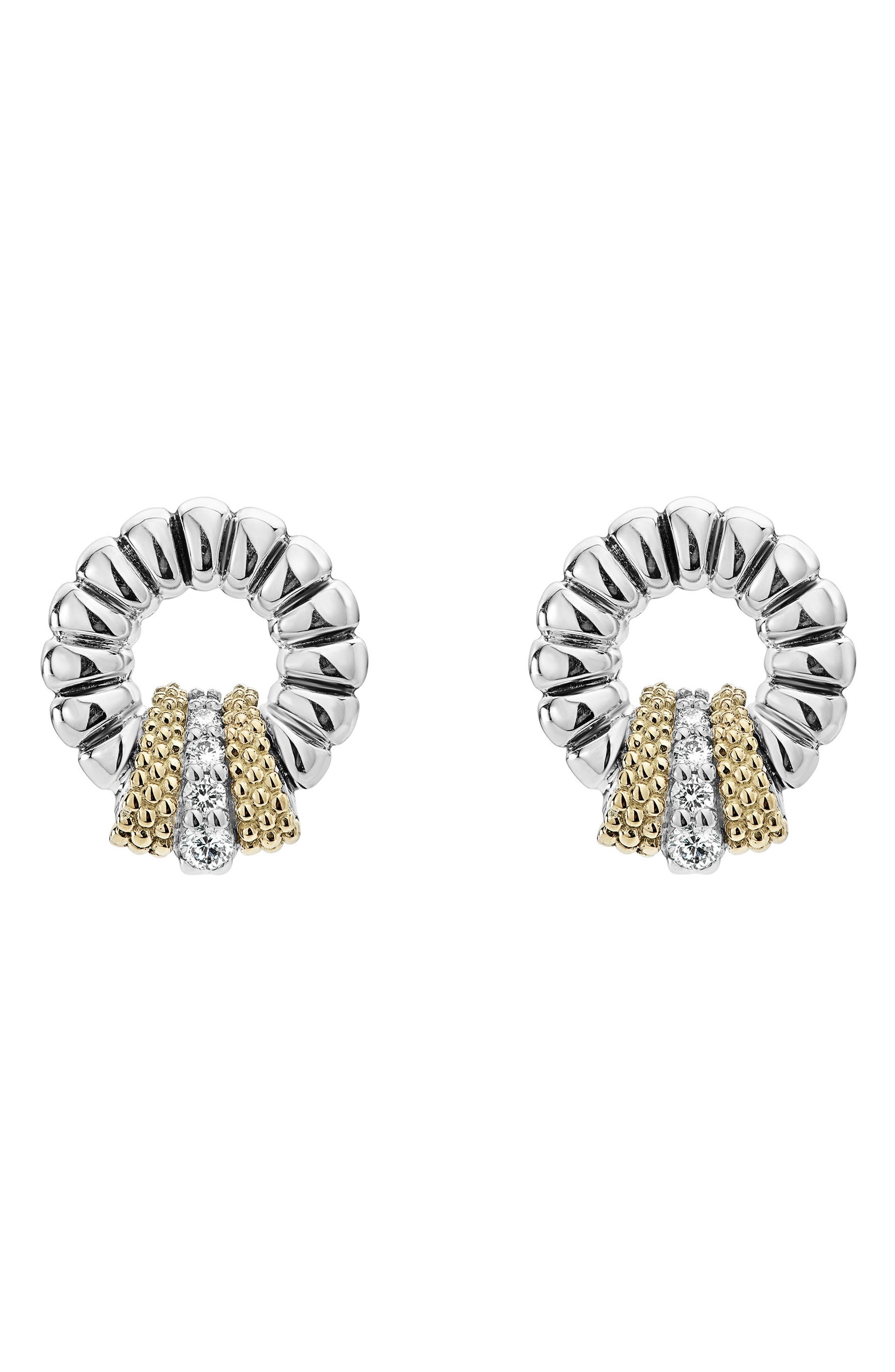 Lux Diamond Stud Earrings,                             Main thumbnail 1, color,                             DIAMOND