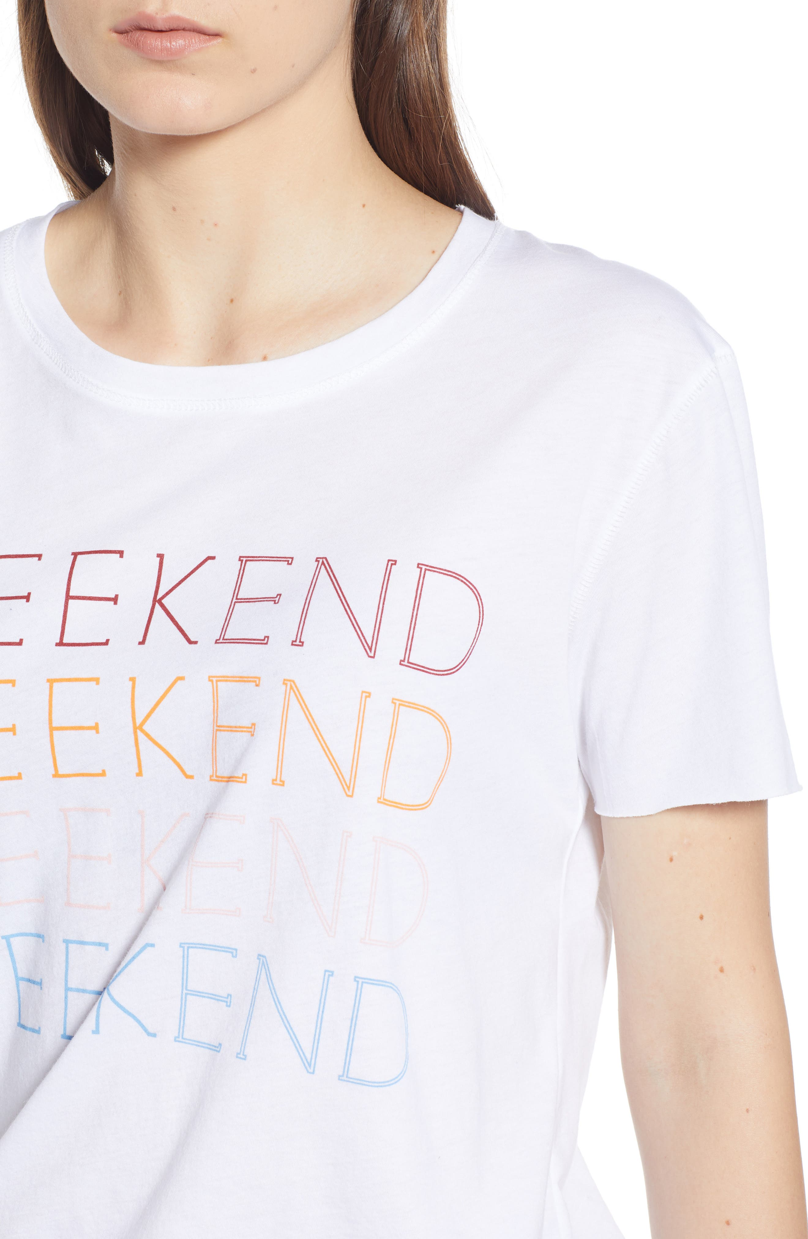 Weekend Graphic Tee,                             Alternate thumbnail 5, color,                             100