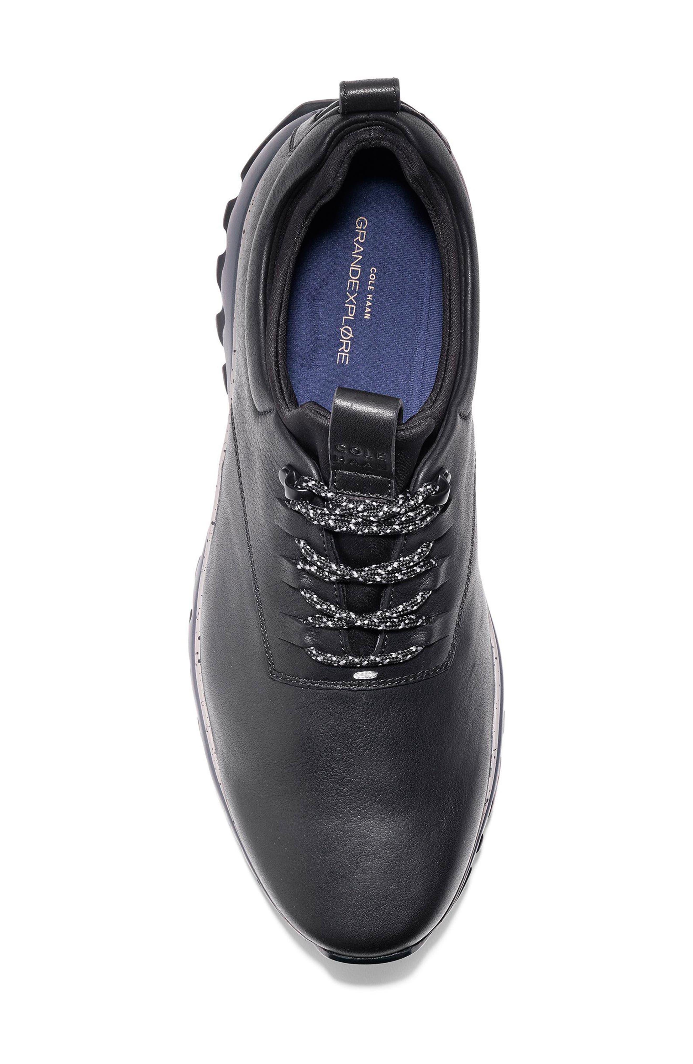 GrandExpløre All Terrain Waterproof Sneaker,                             Alternate thumbnail 5, color,                             BLACK/ IRONSTONE LEATHER