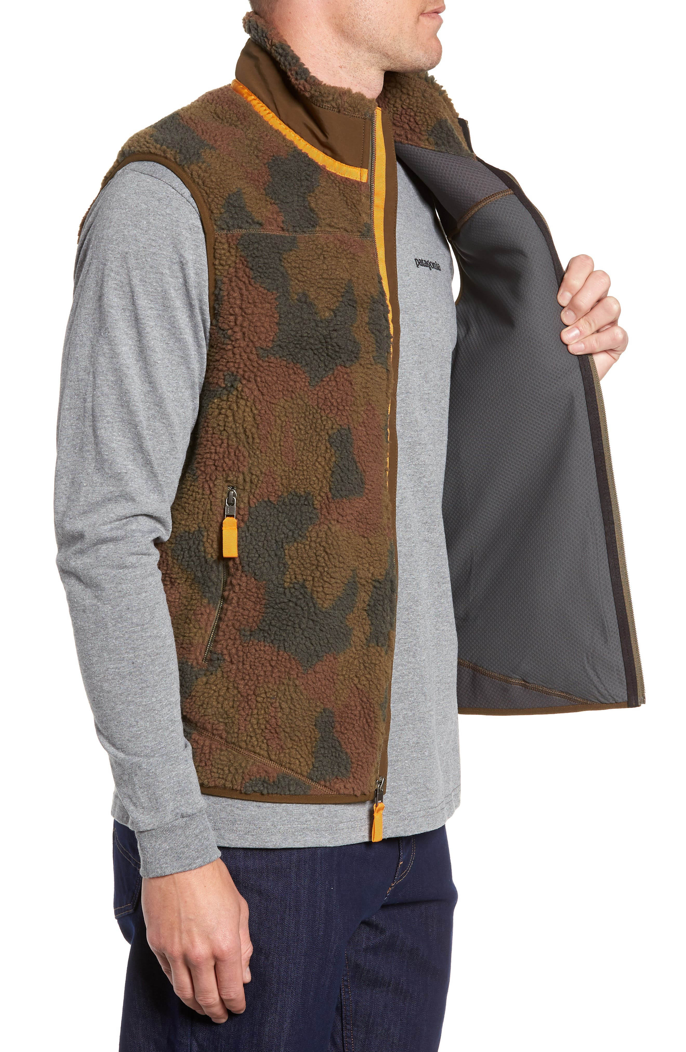 Classic Retro-X<sup>®</sup> Windproof Vest,                             Alternate thumbnail 3, color,                             BUNKER CAMO CARGO GREEN