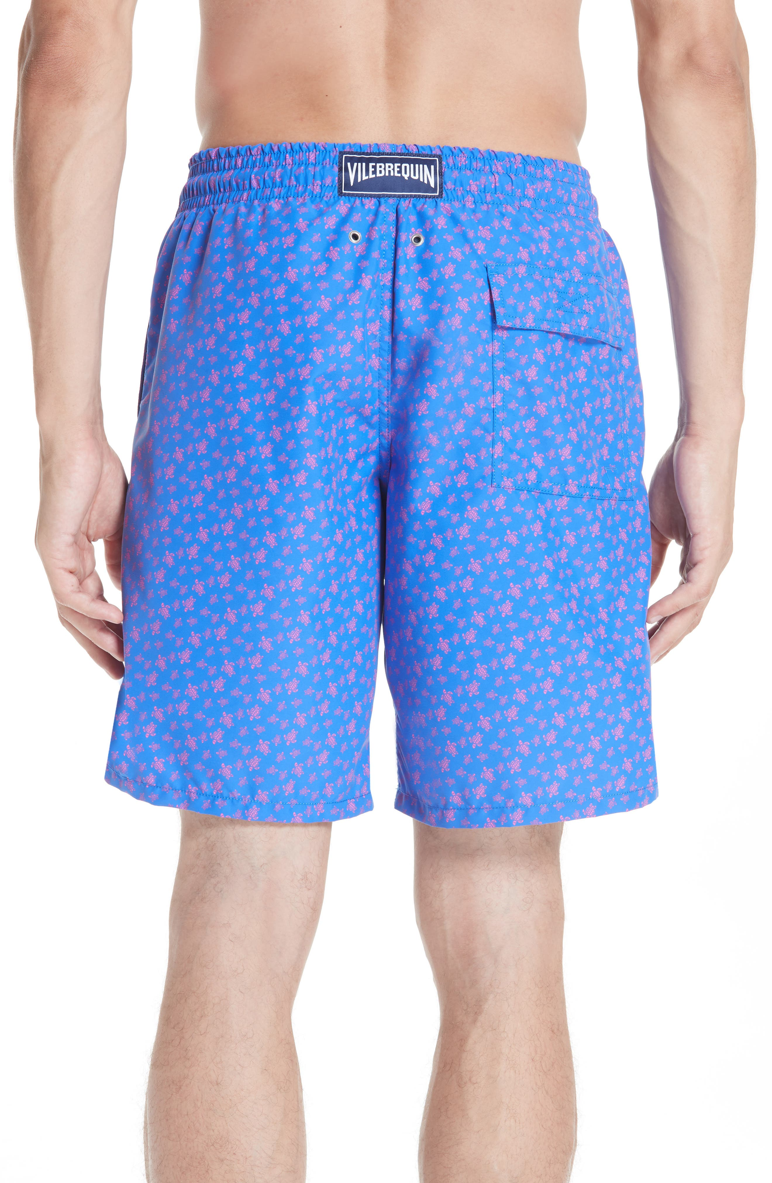 VILEBREQUIN,                             Micro Ronde Turtle Print Swim Trunks,                             Alternate thumbnail 2, color,                             BLUE