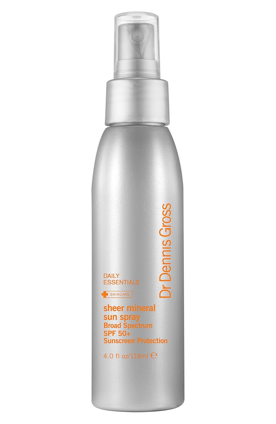 Sheer Mineral Sun Spray Broad Spectrum SPF 50+ Sunscreen Protection,                             Main thumbnail 1, color,                             000