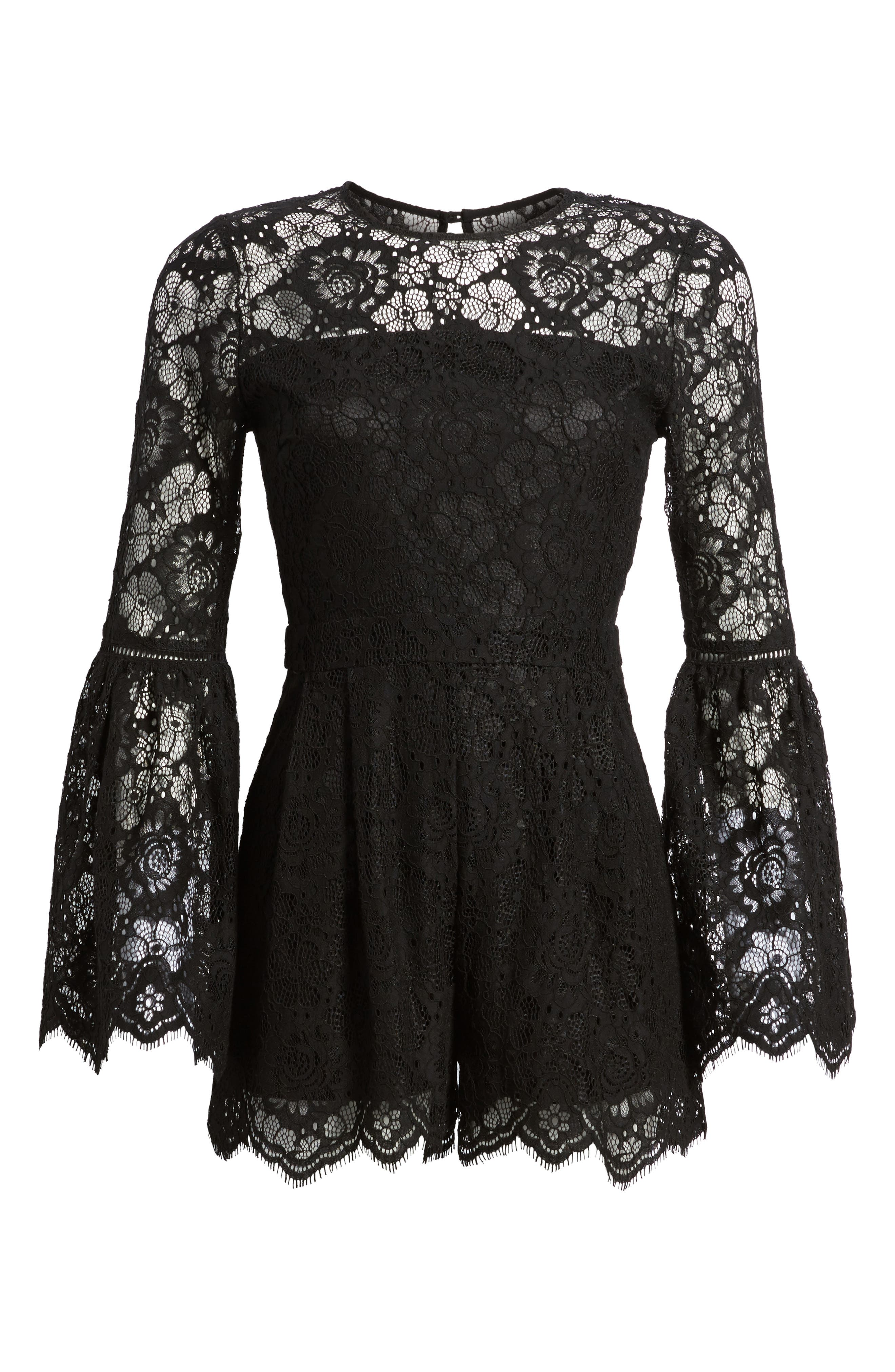 Gabrielle Lace Romper,                             Alternate thumbnail 6, color,