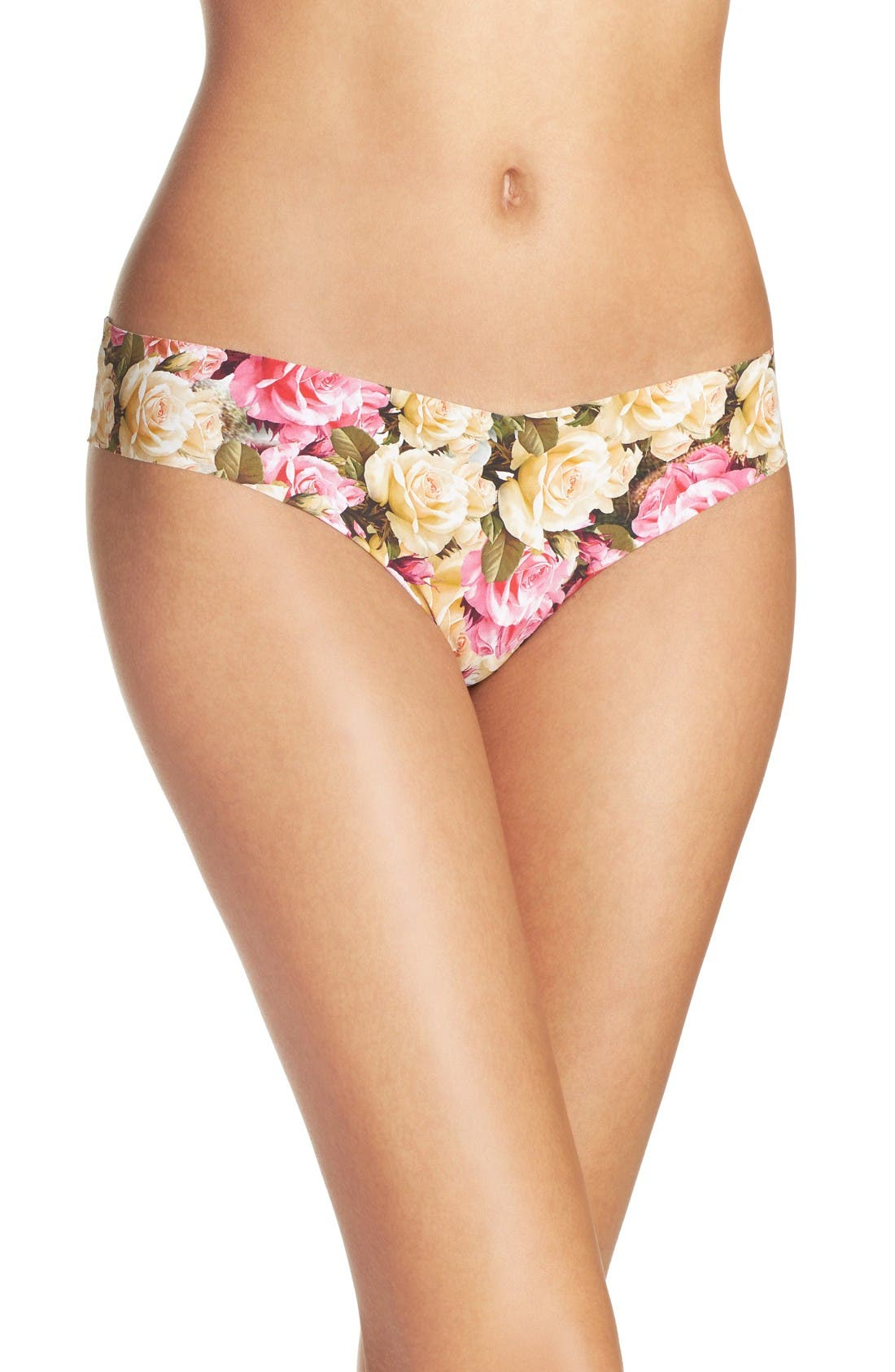 Print Microfiber Thong,                             Main thumbnail 82, color,