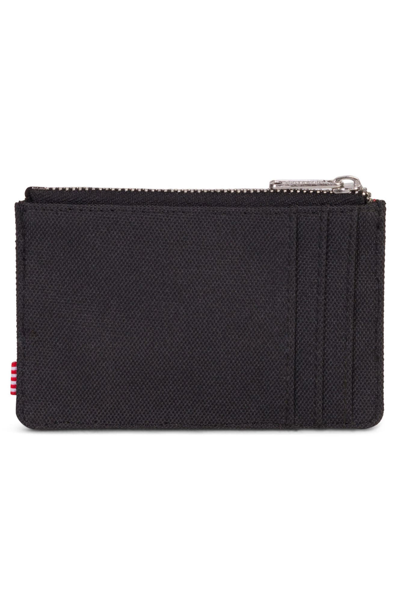 Oscar Card Case,                             Alternate thumbnail 2, color,                             BLACK