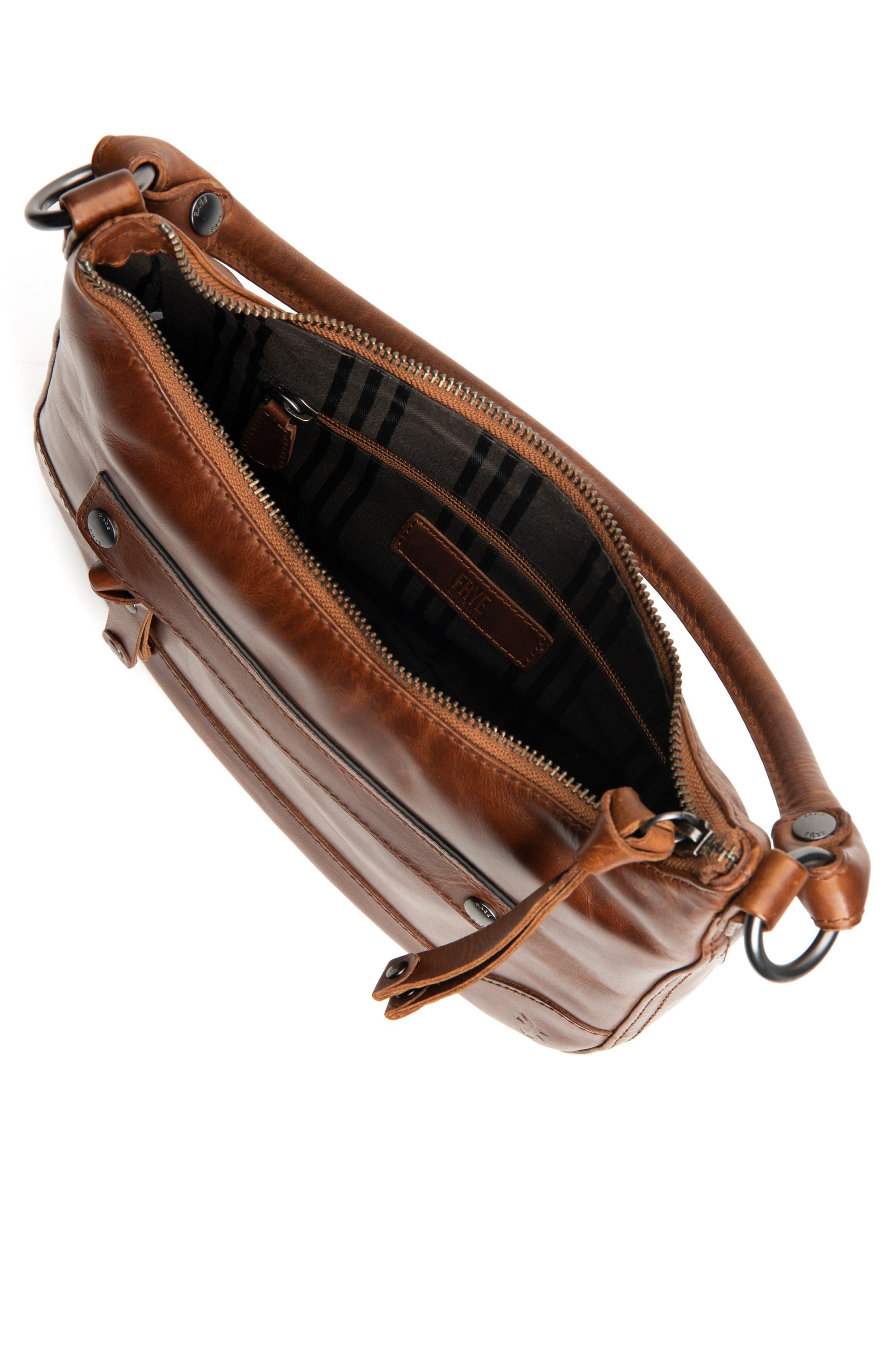 Small Melissa Leather Hobo Bag,                             Alternate thumbnail 7, color,