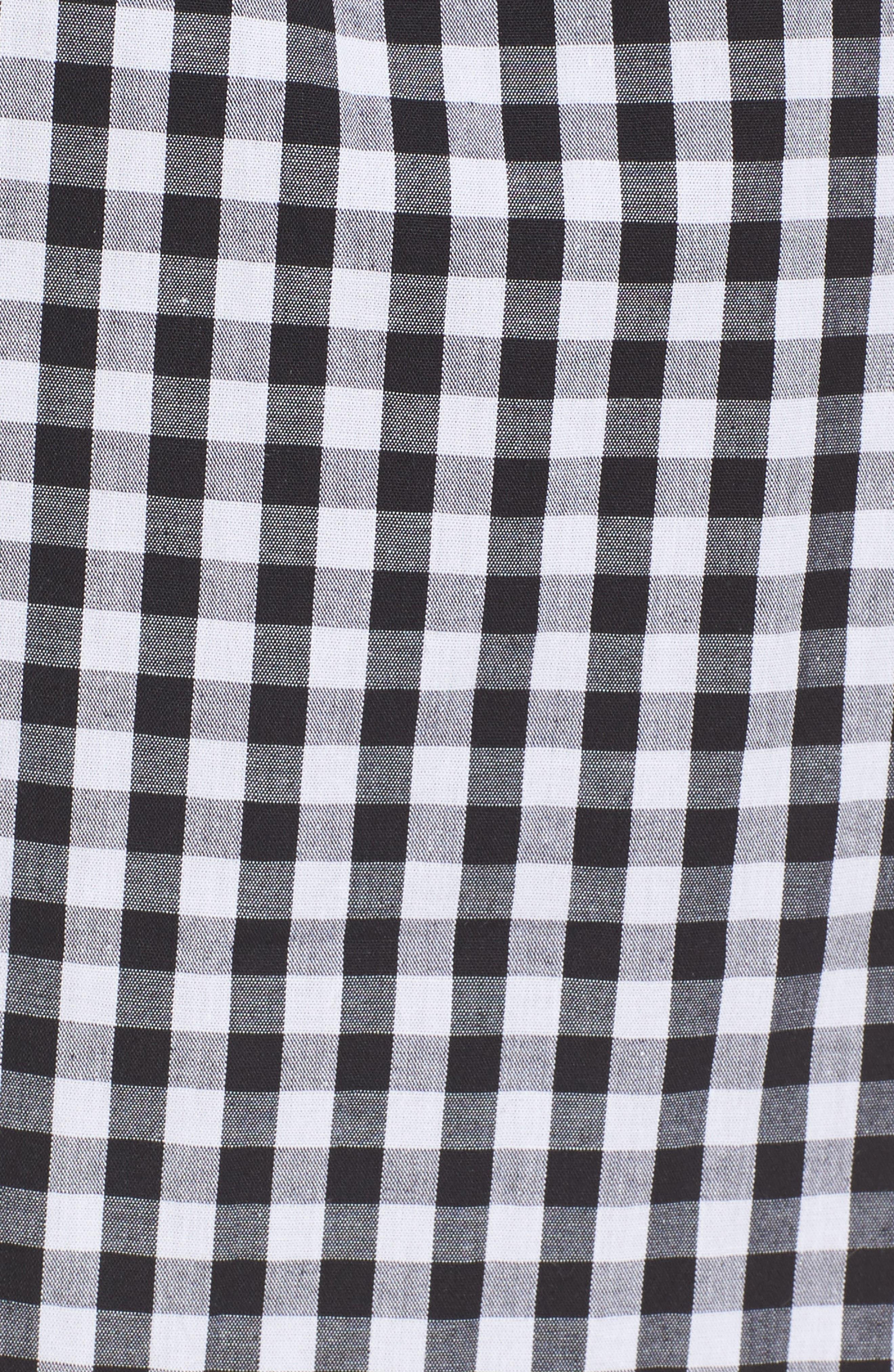Cotton Poplin Wrap Dress,                             Alternate thumbnail 5, color,                             001