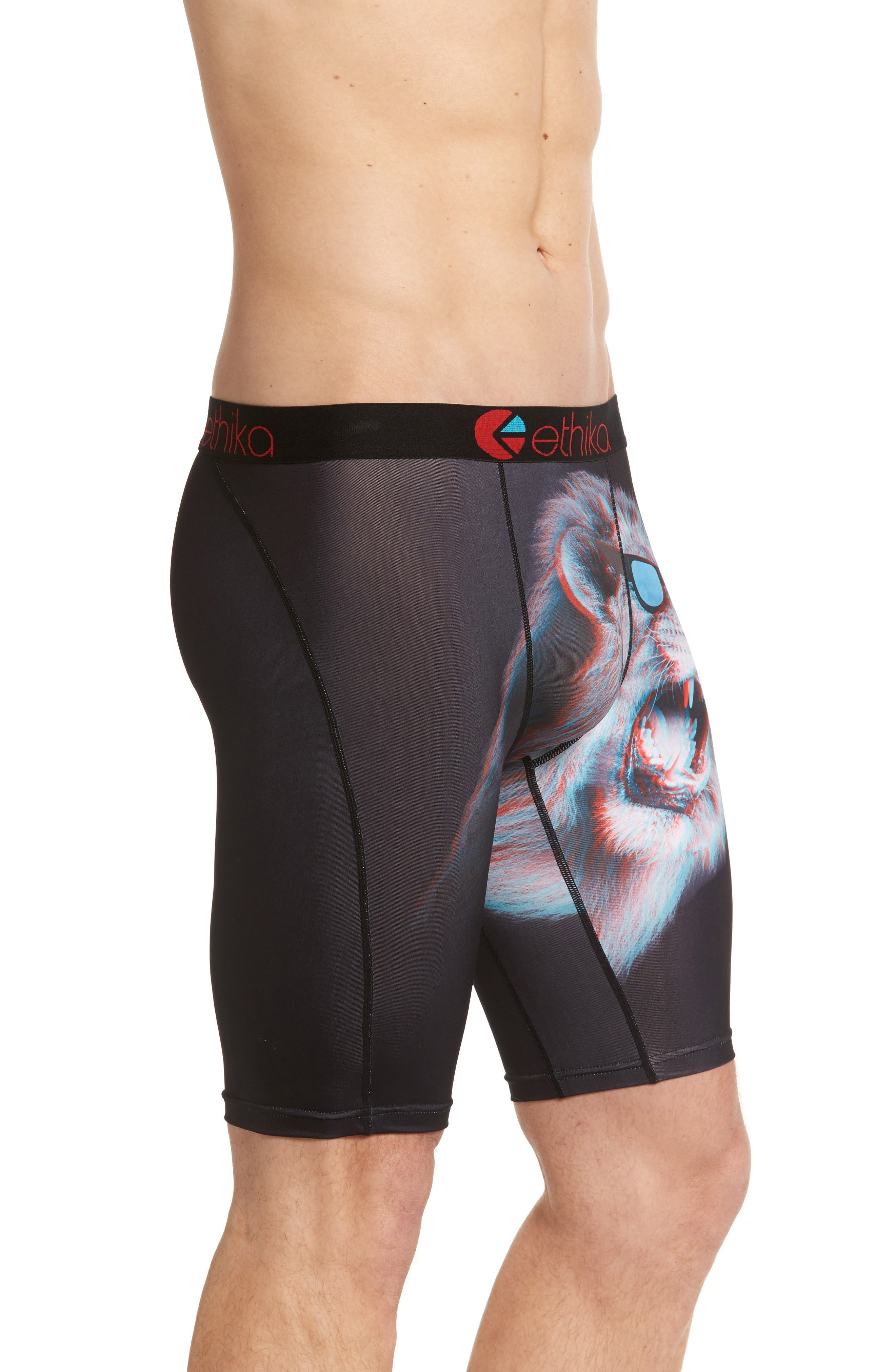 King of 3D Stretch Boxer Briefs,                             Alternate thumbnail 3, color,