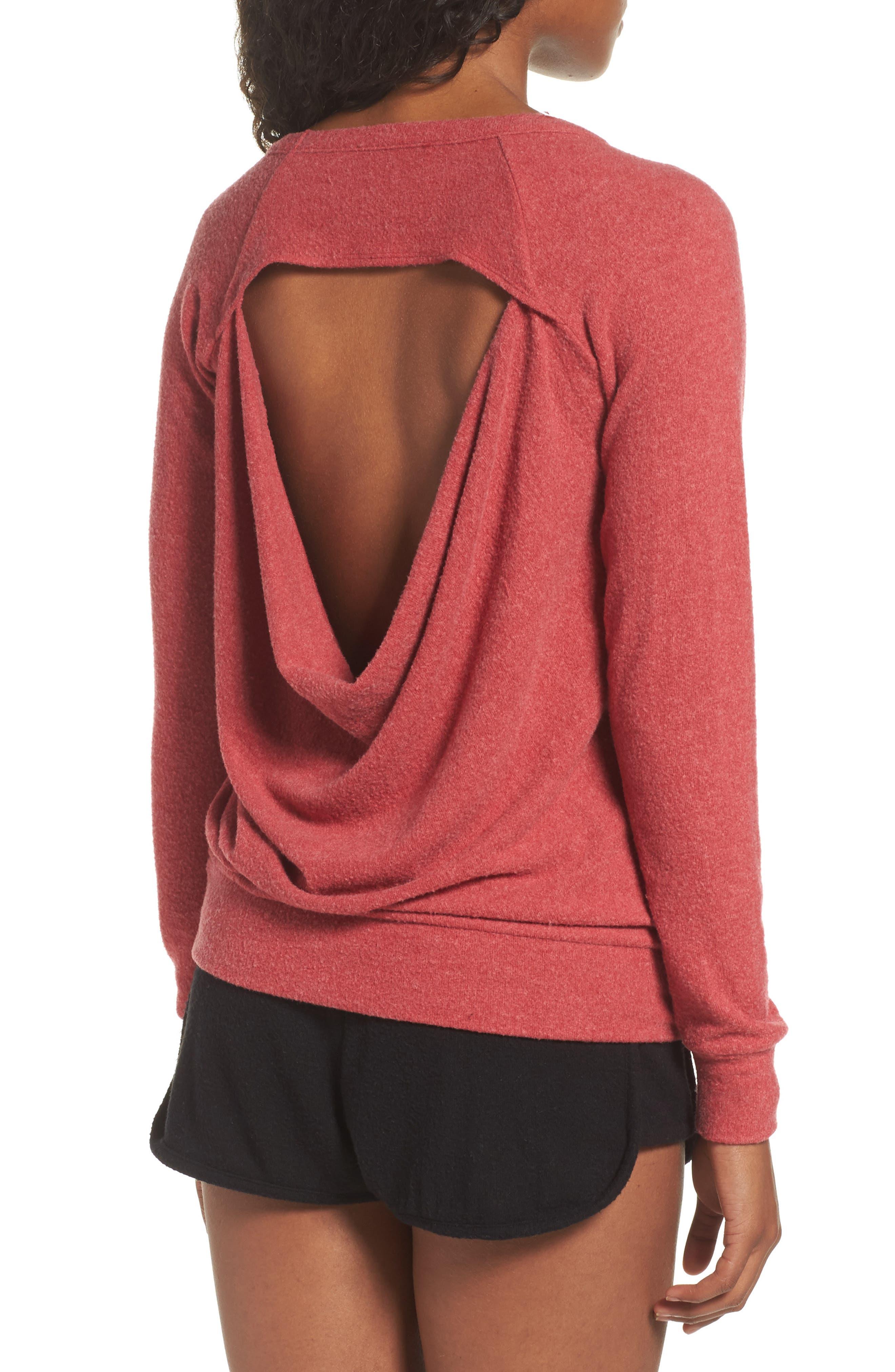 Love Saturday Drape Back Pullover,                             Alternate thumbnail 2, color,