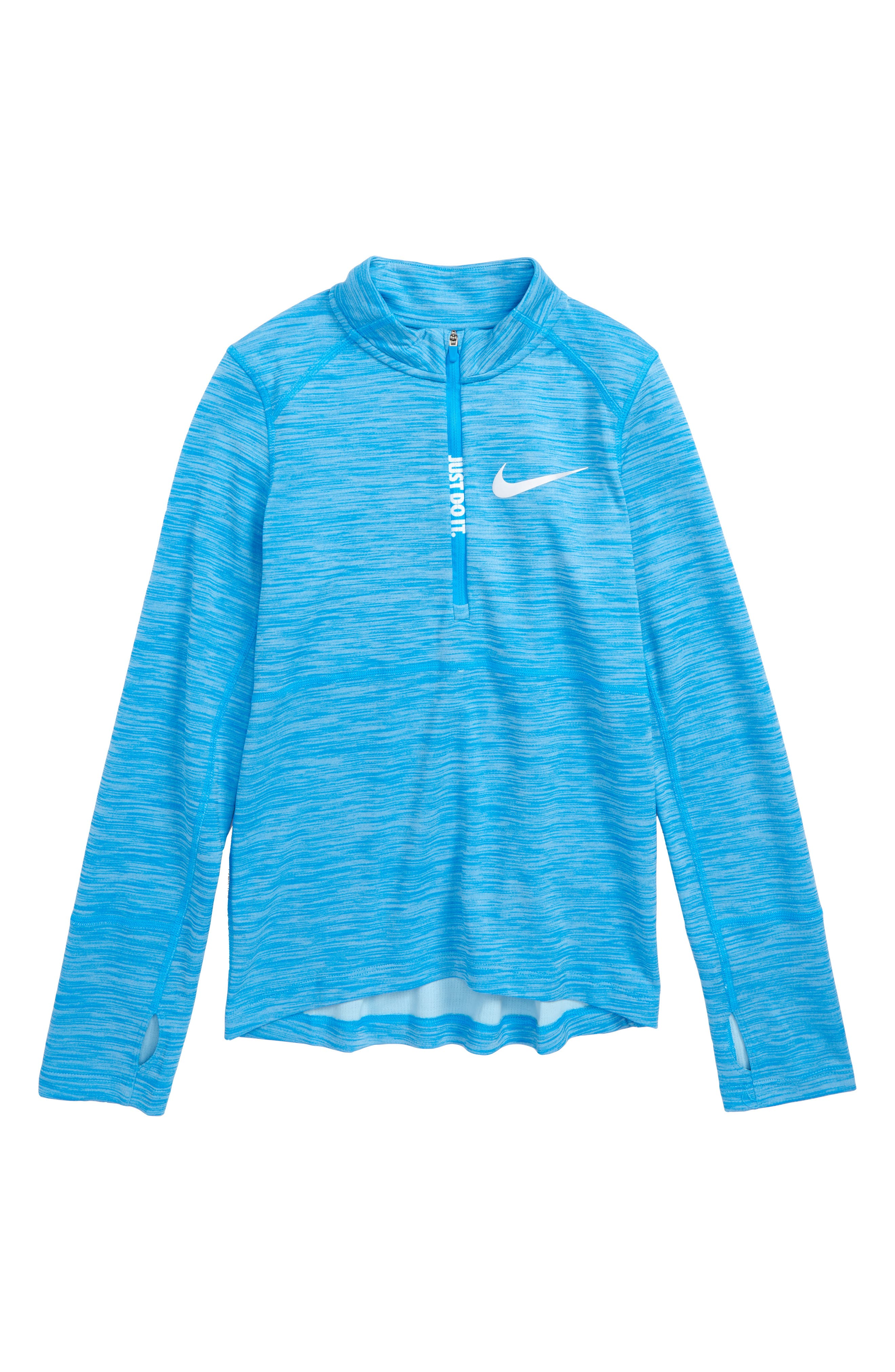 Dry Pacer Half Zip Pullover,                         Main,                         color, BLUE HERO/ BLUE CHILL