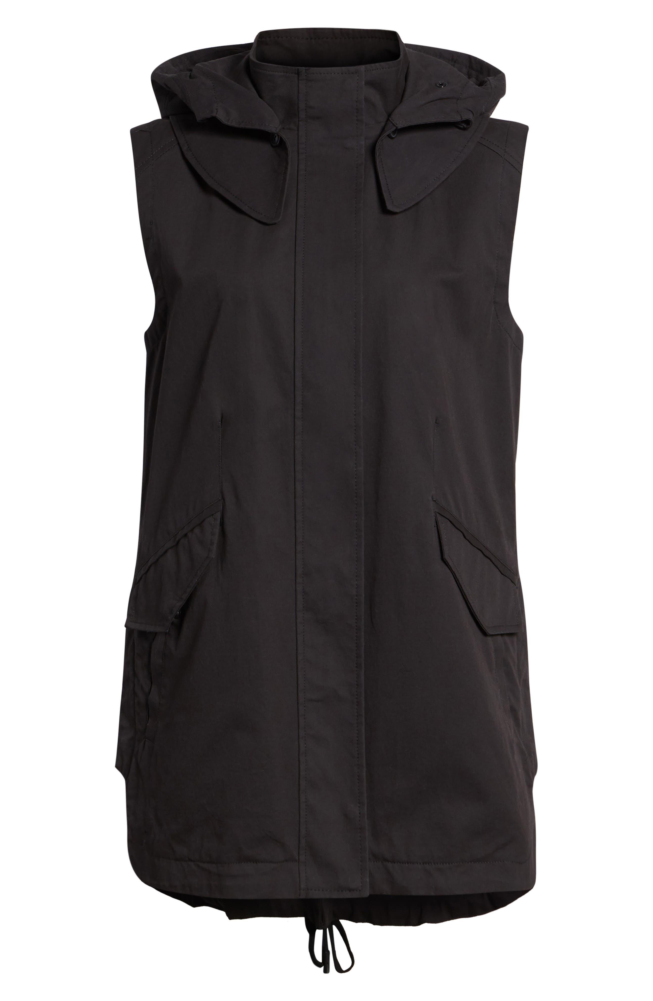 Elongated Hooded Vest,                             Alternate thumbnail 6, color,                             001