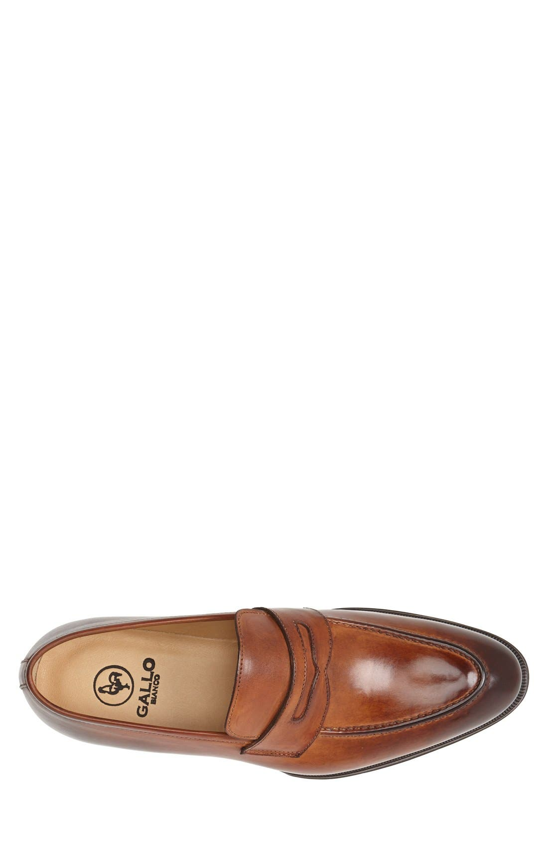 Leather Penny Loafer,                             Alternate thumbnail 8, color,