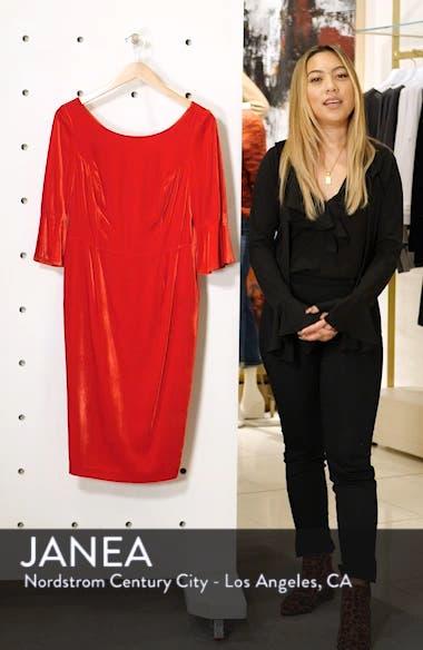 Aubrey Flounce Sleeve Velvet Dress, sales video thumbnail