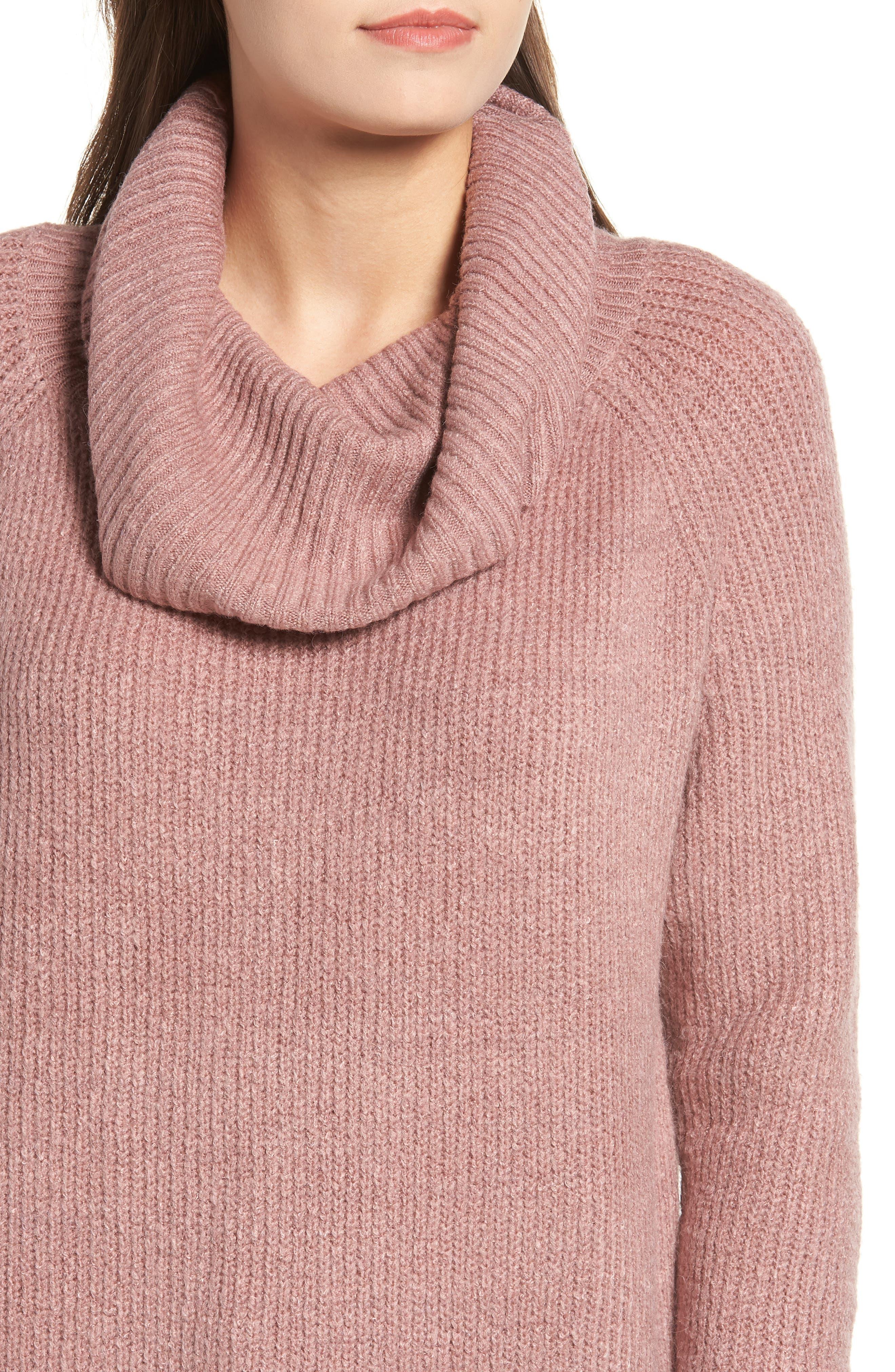 Cowl Neck Sweater,                             Alternate thumbnail 4, color,                             500
