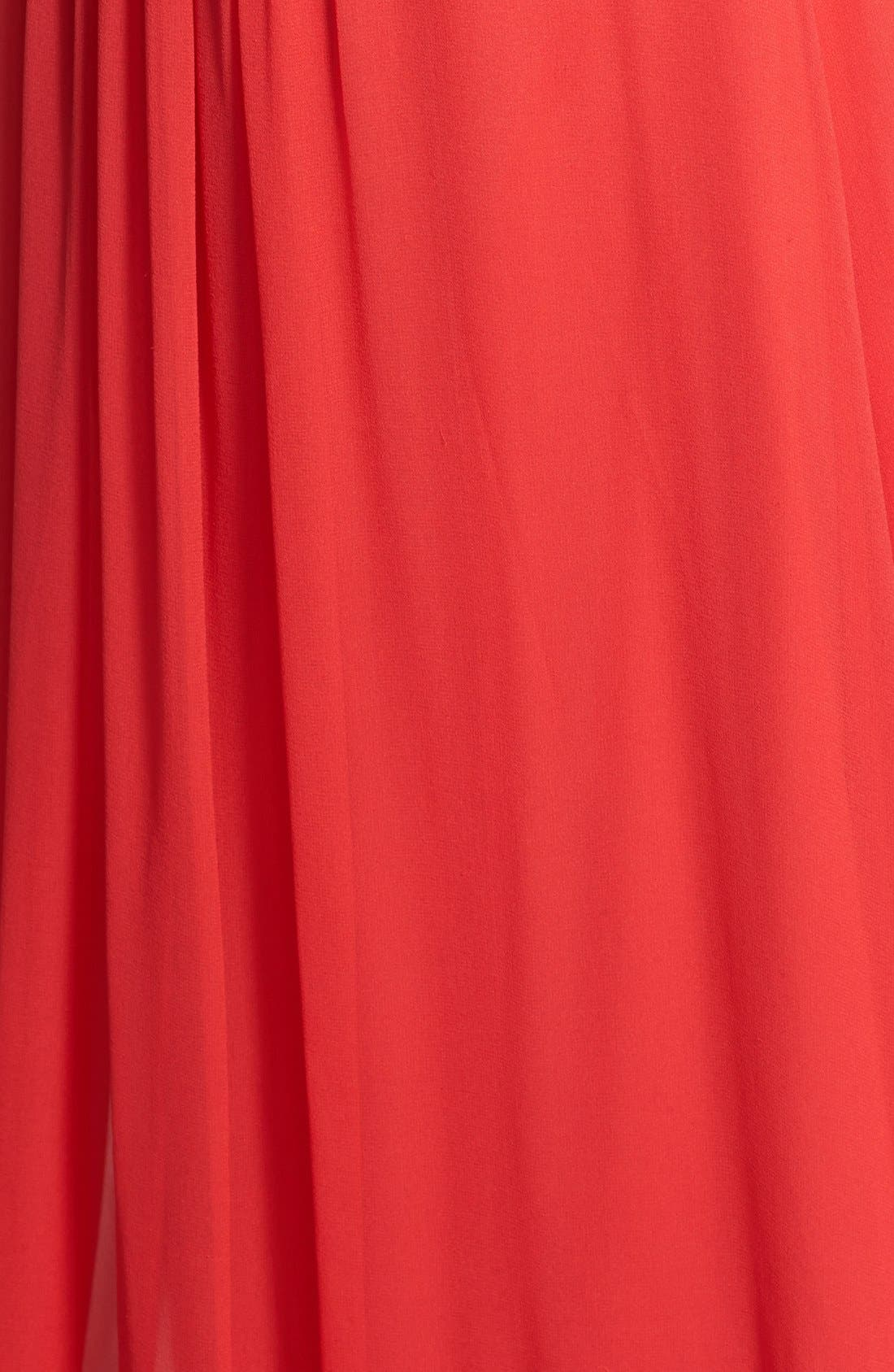 Strapless Chiffon Gown,                             Alternate thumbnail 2, color,                             841