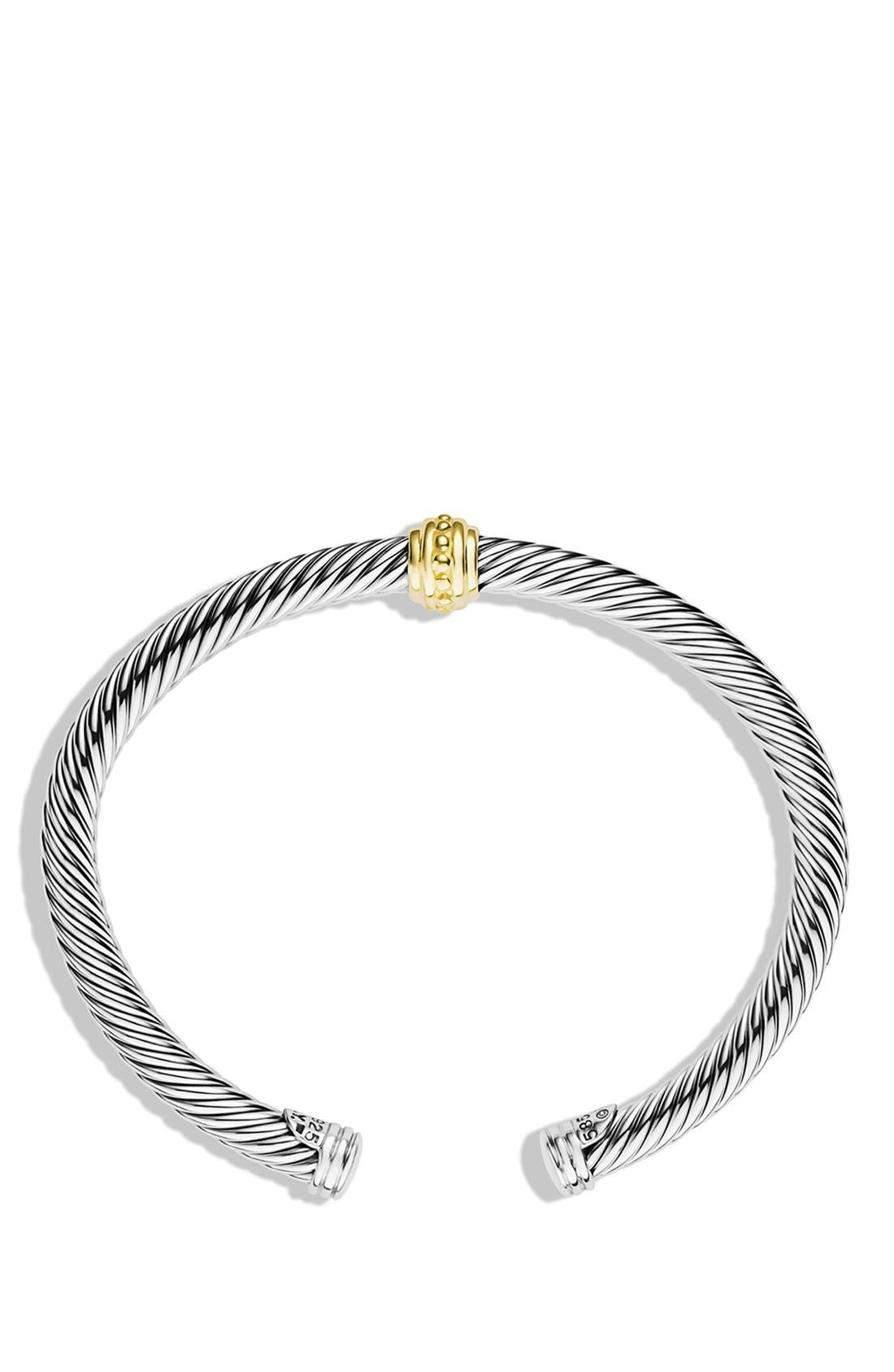'Cable Classics' One-Station Bracelet with Gold,                             Alternate thumbnail 2, color,                             040