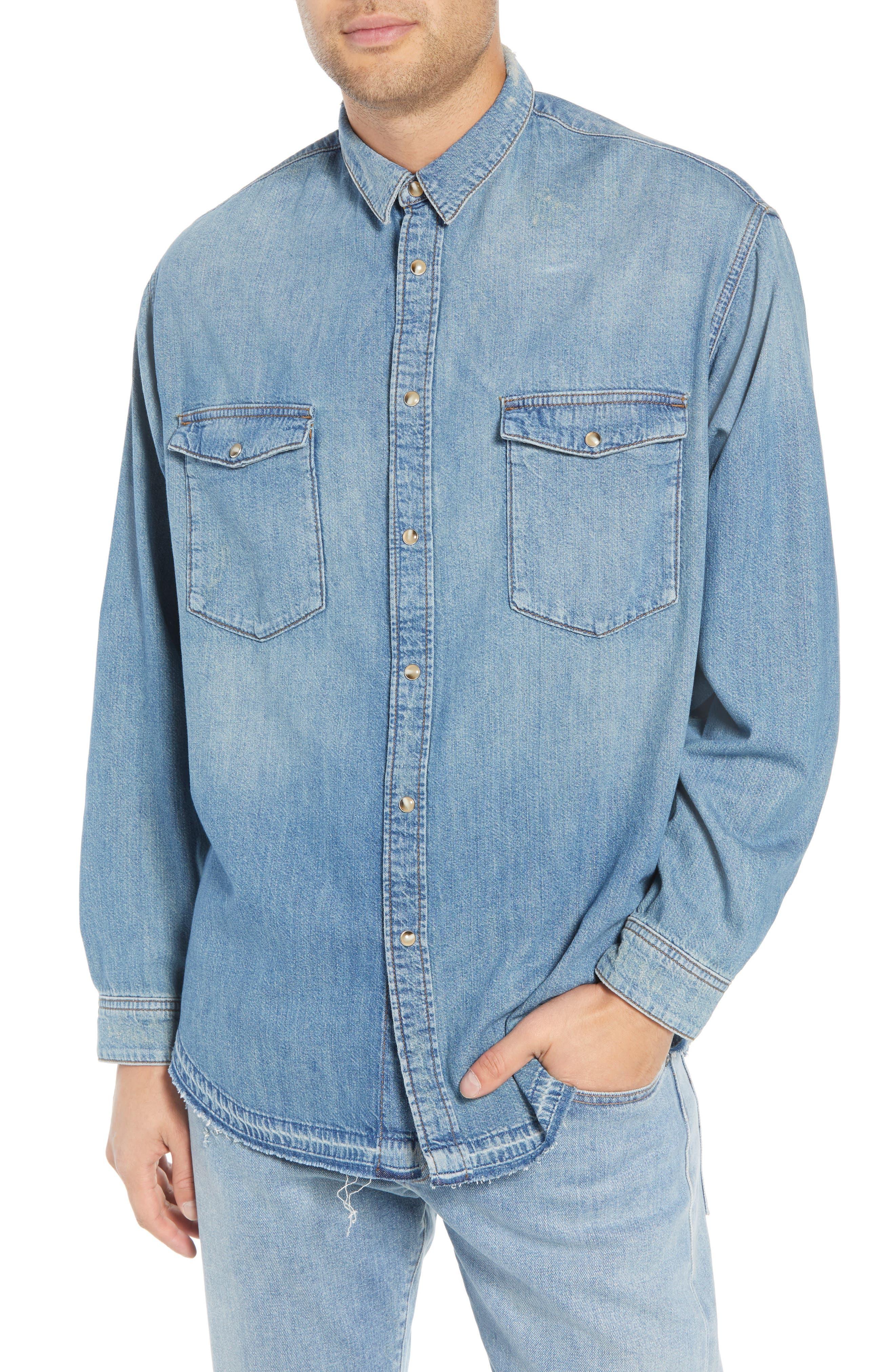 Denim Classic Fit Western Shirt,                             Main thumbnail 1, color,                             425