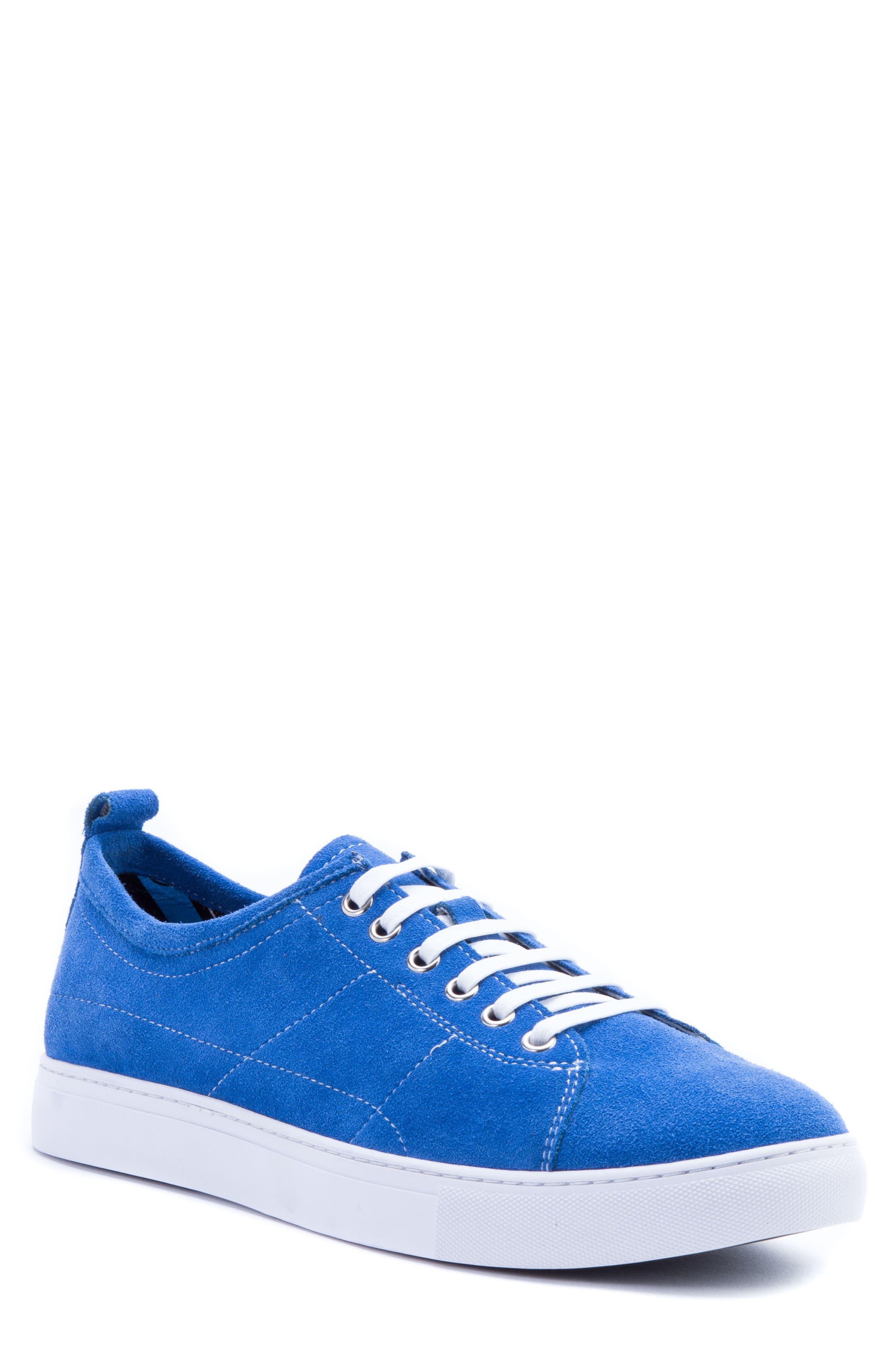 Ernesto Low Top Sneaker,                             Main thumbnail 1, color,                             ROYAL SUEDE
