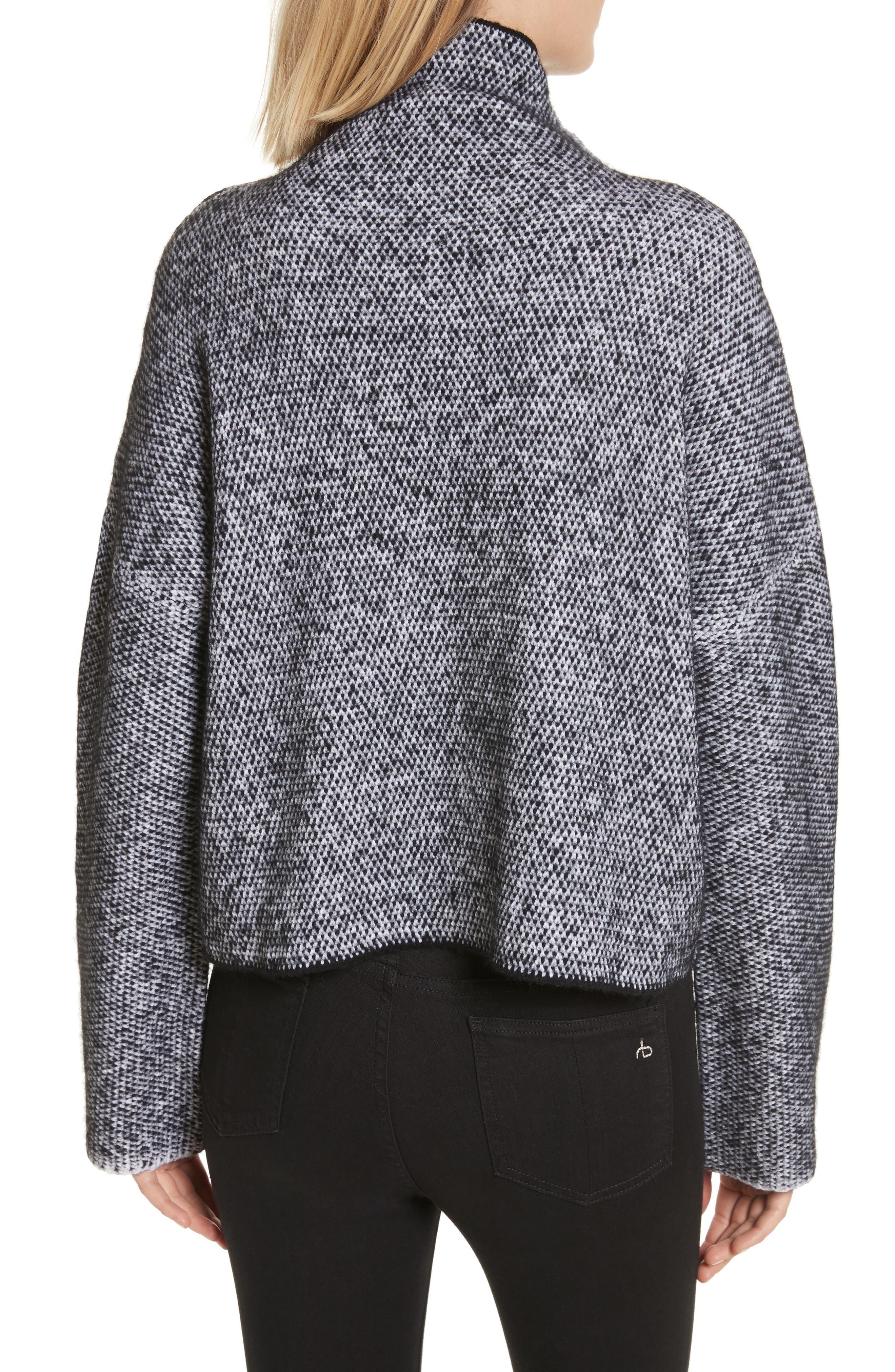 Robin Merino Wool Blend Sweater,                             Alternate thumbnail 2, color,                             001
