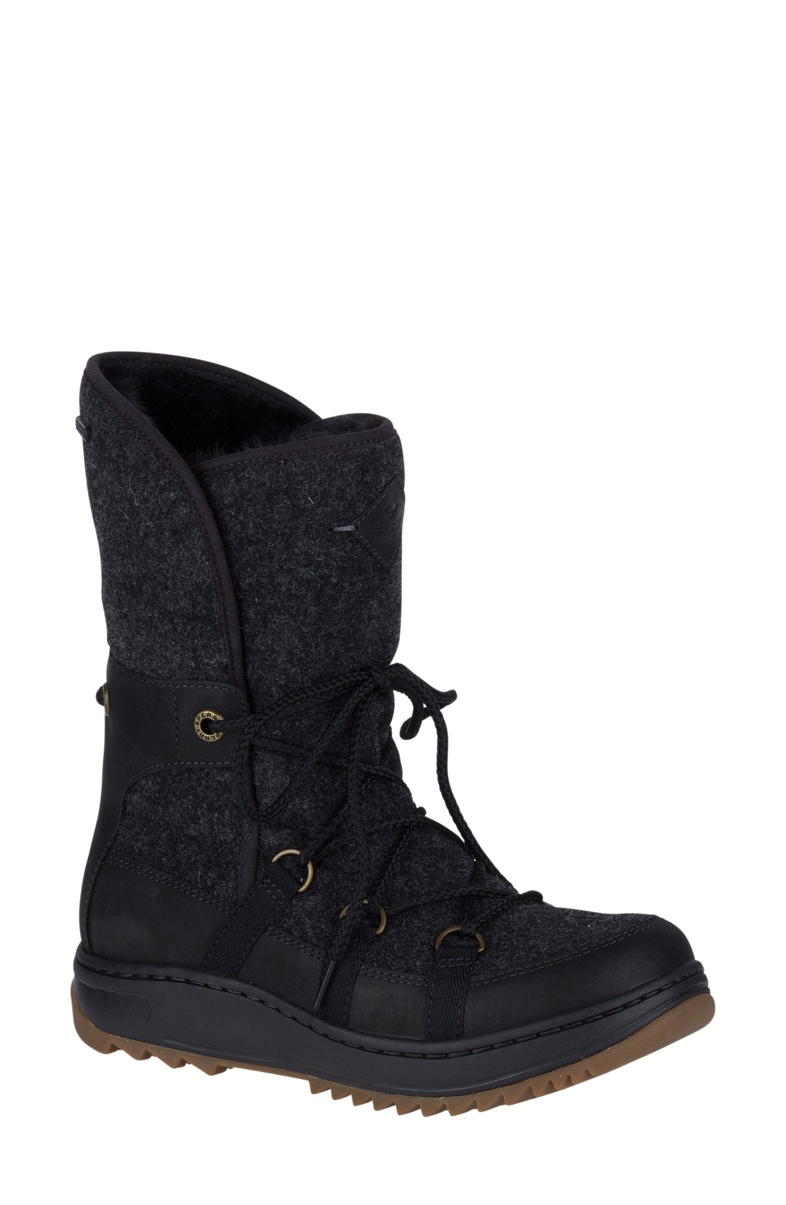 Powder Ice Cap Thinsulate Insulated Water Resistant Boot,                             Main thumbnail 1, color,                             001
