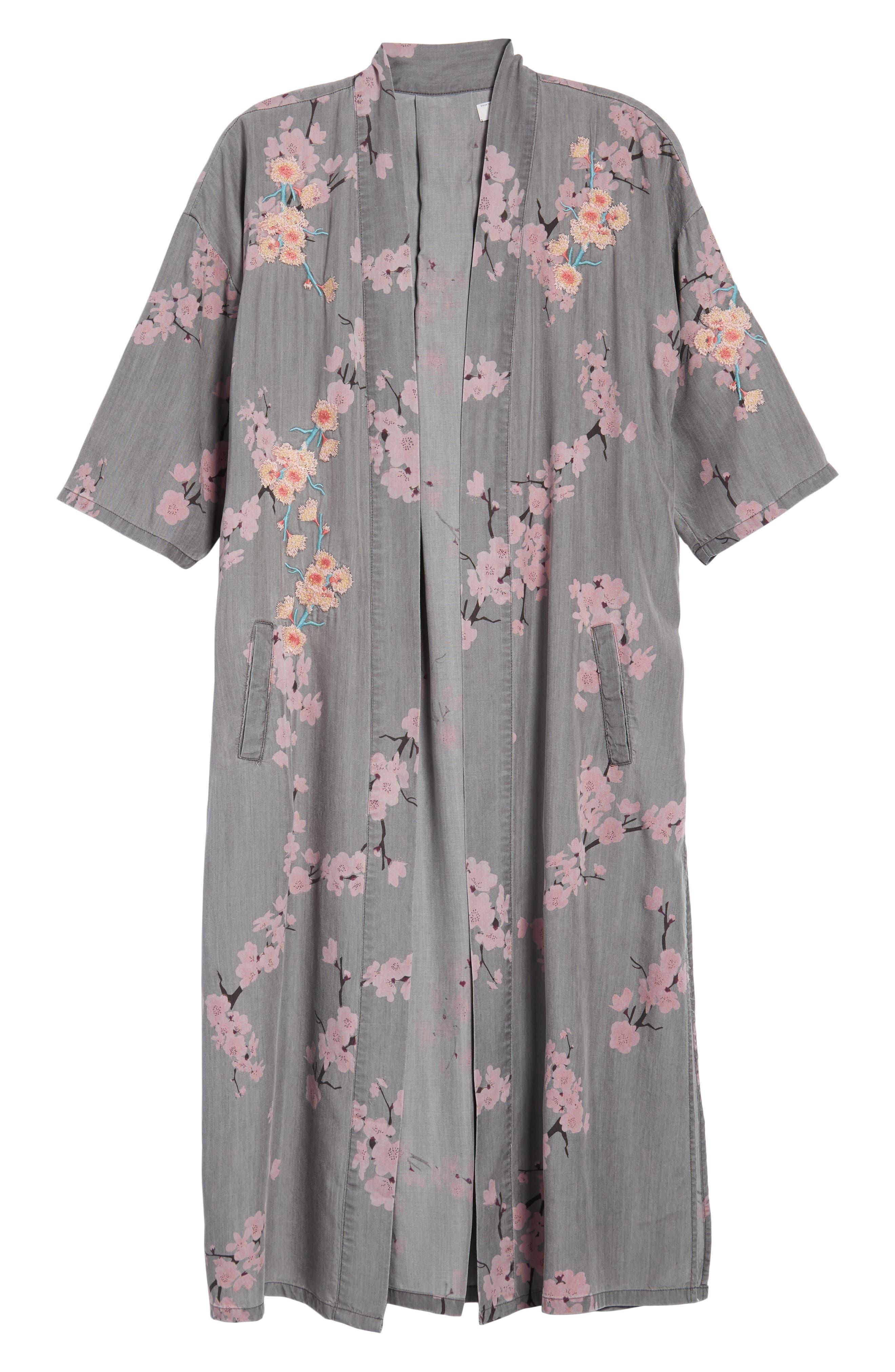 Cherry Blossom Kimono,                             Alternate thumbnail 6, color,                             020