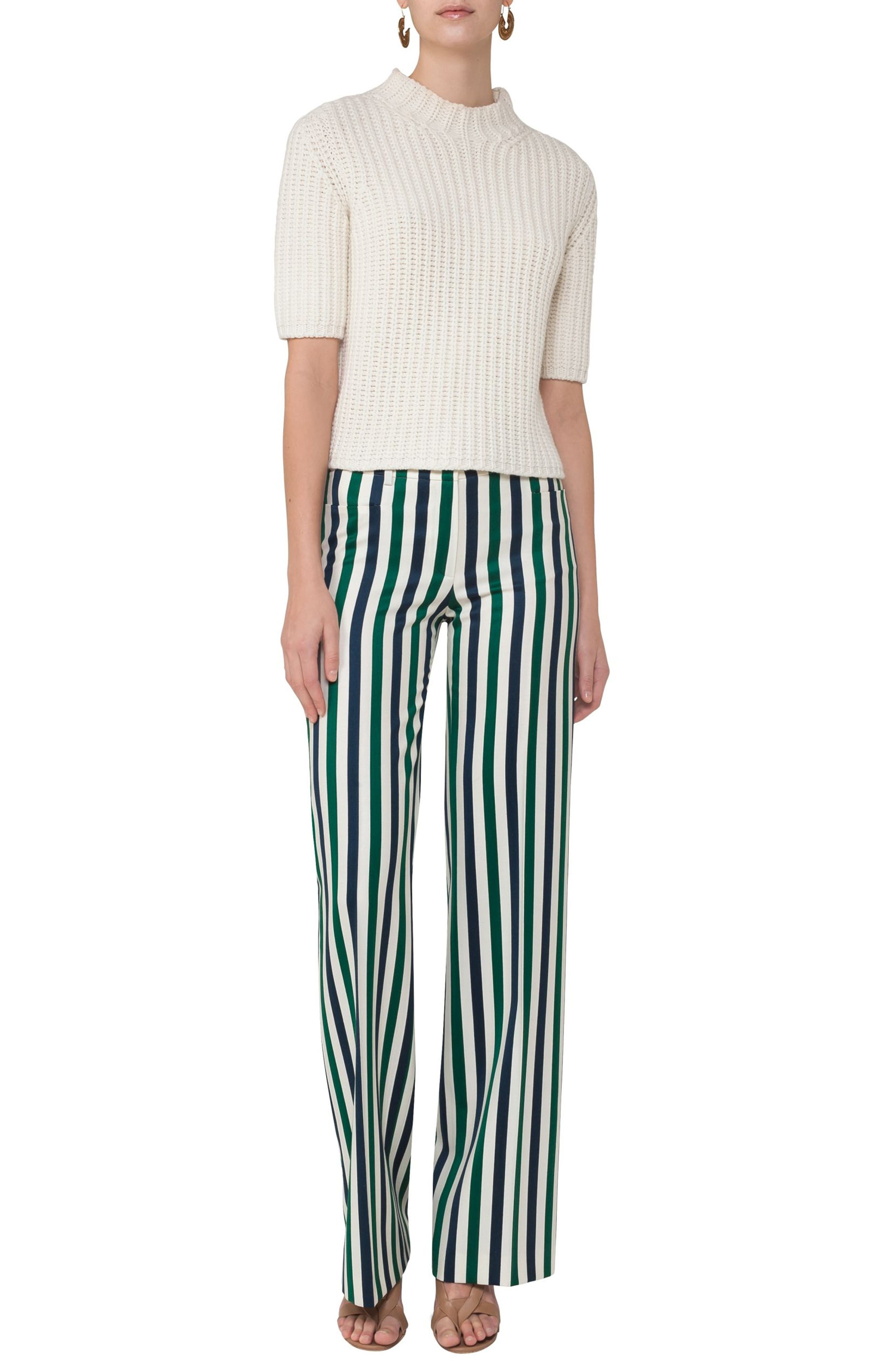 Mikka Stripe Pants,                             Alternate thumbnail 3, color,                             400