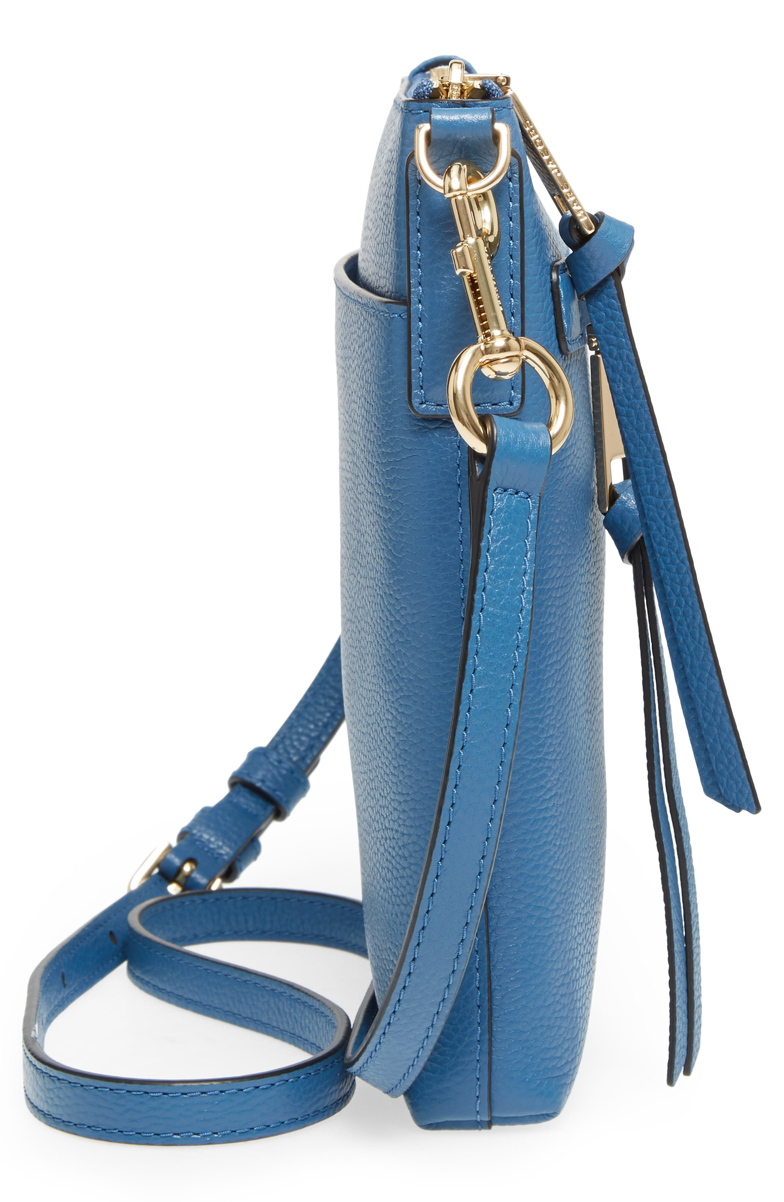 Recruit North/South Leather Crossbody Bag,                             Alternate thumbnail 5, color,                             476
