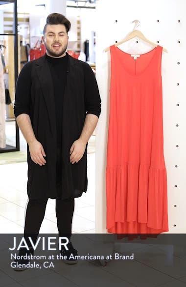 Sleeveless High/Low Knit Maxi Dress, sales video thumbnail