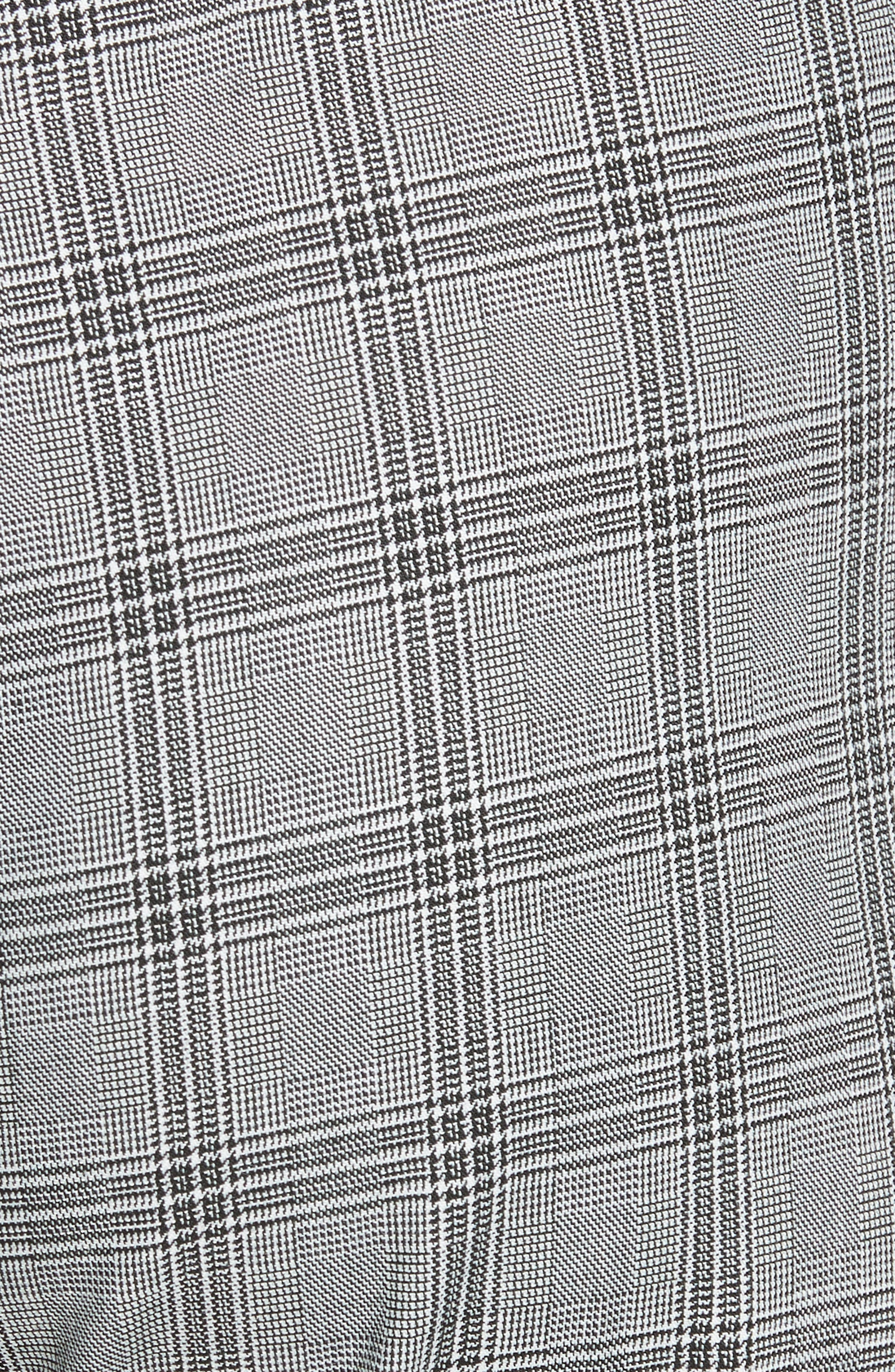 Ted Working Title Ristat Check Plaid Trousers,                             Alternate thumbnail 5, color,                             GREY