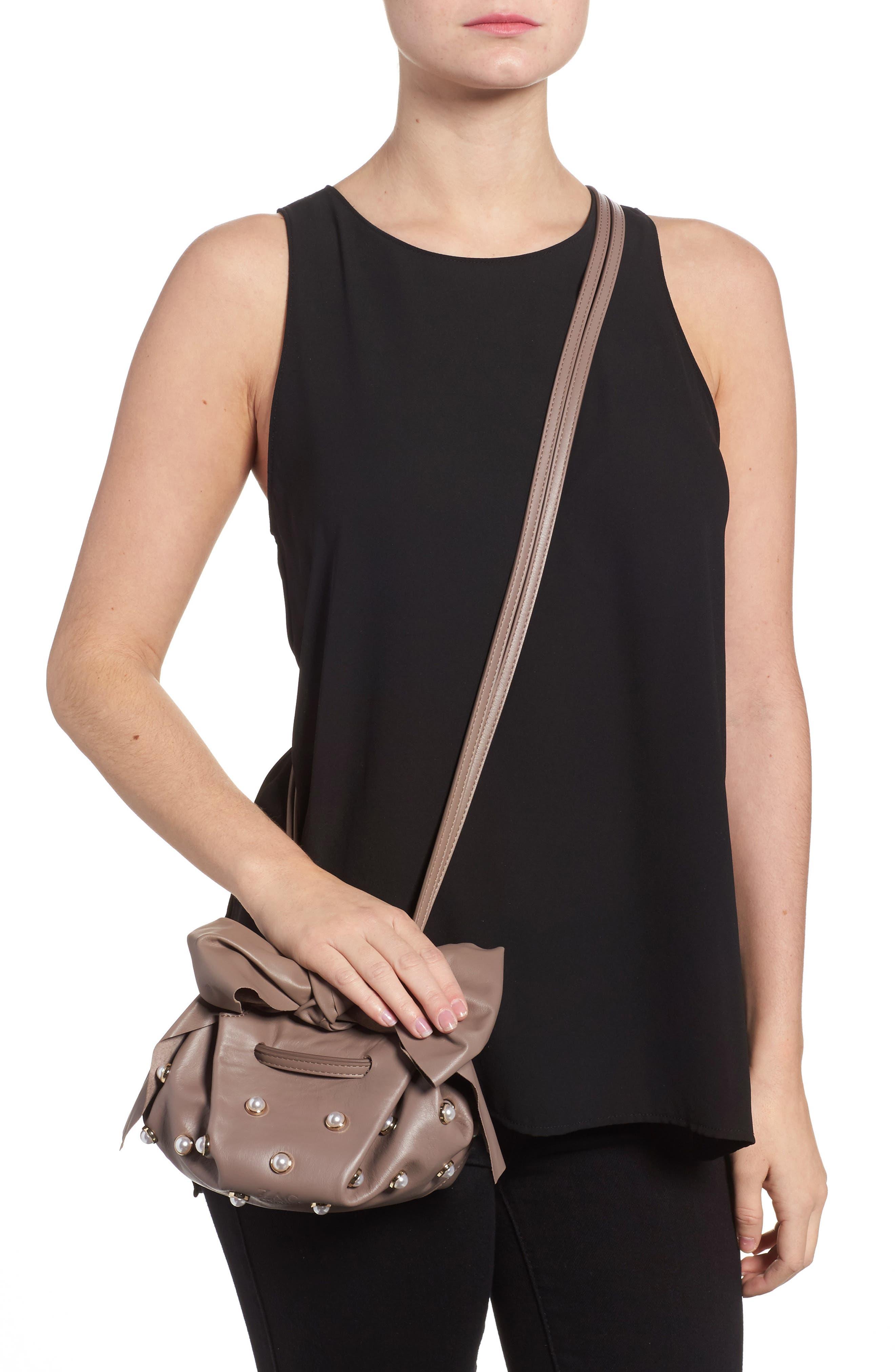 Soirée Imitation Pearl Lady Leather Crossbody Bag,                             Alternate thumbnail 2, color,                             530