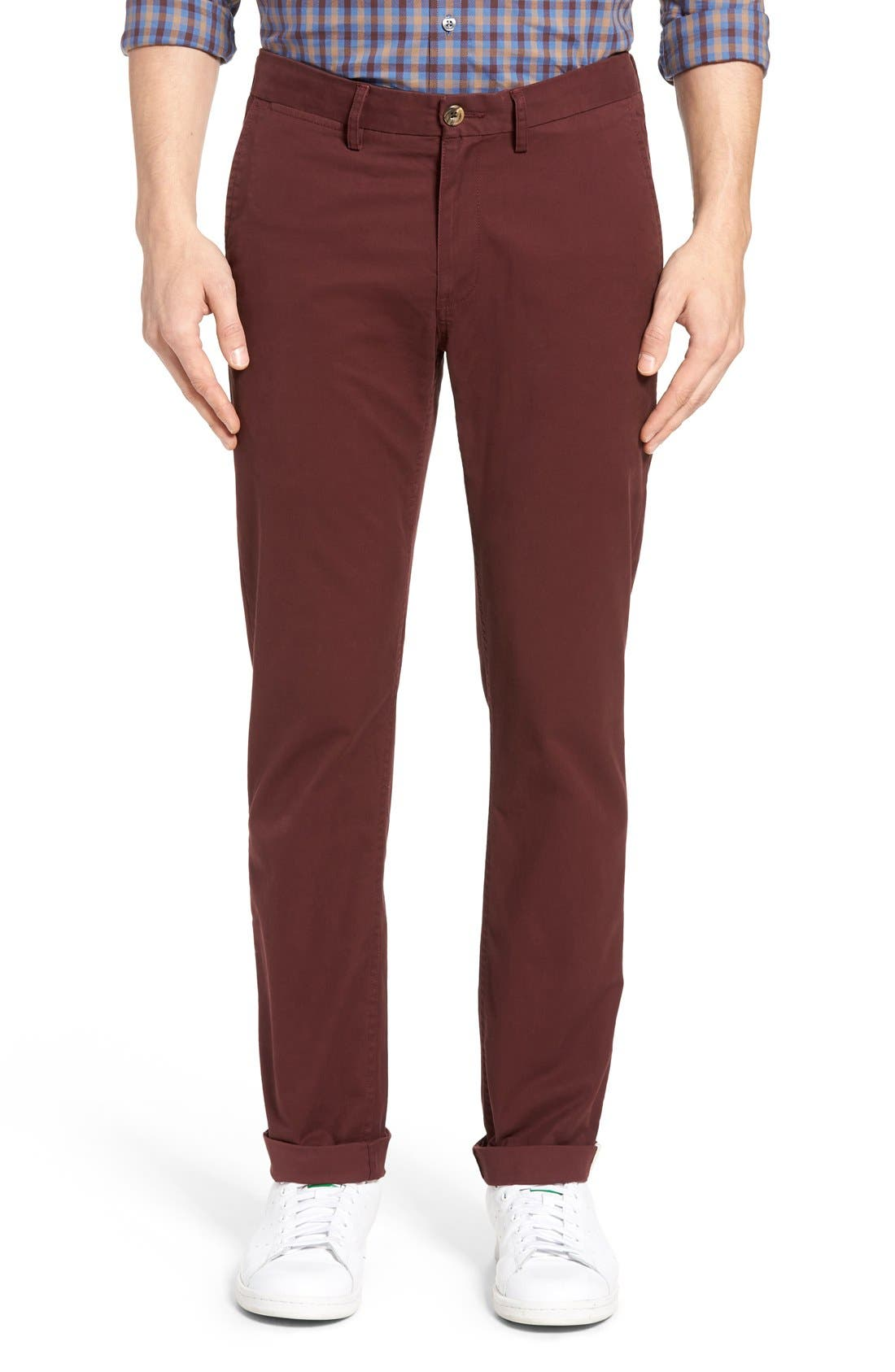 Slim Fit Stretch Chinos,                             Alternate thumbnail 49, color,