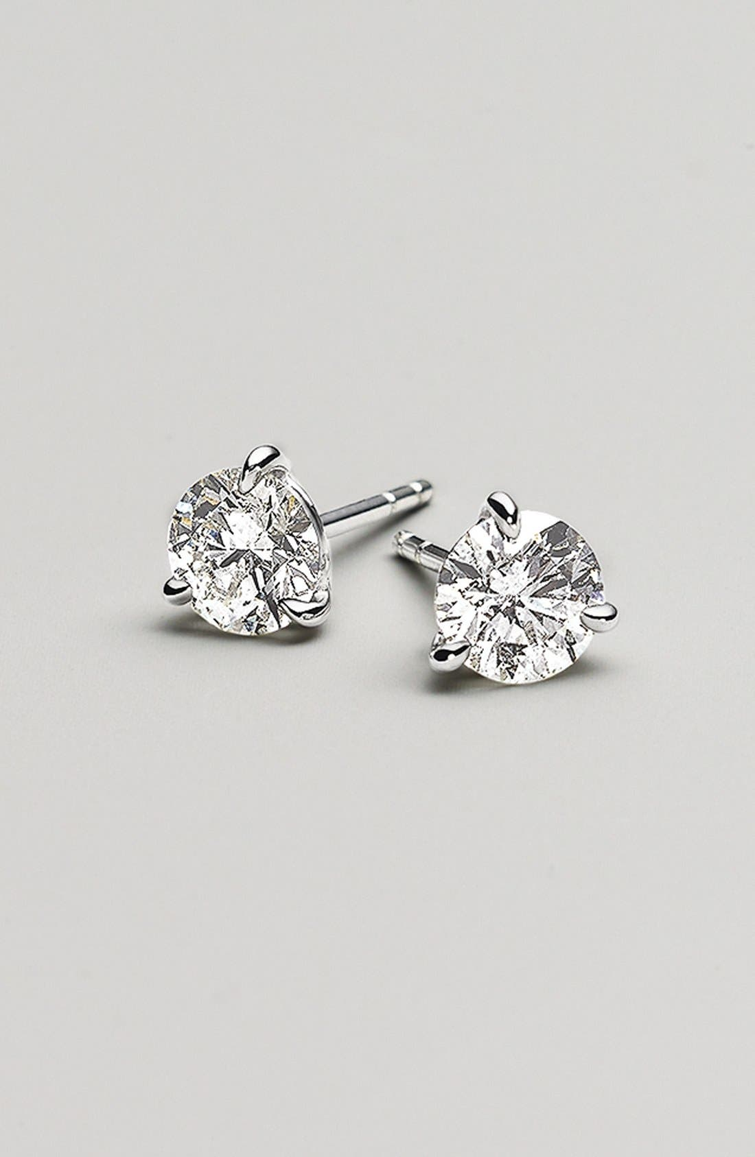 1.50ct tw Diamond & Platinum Stud Earrings,                             Alternate thumbnail 5, color,                             PLATINUM