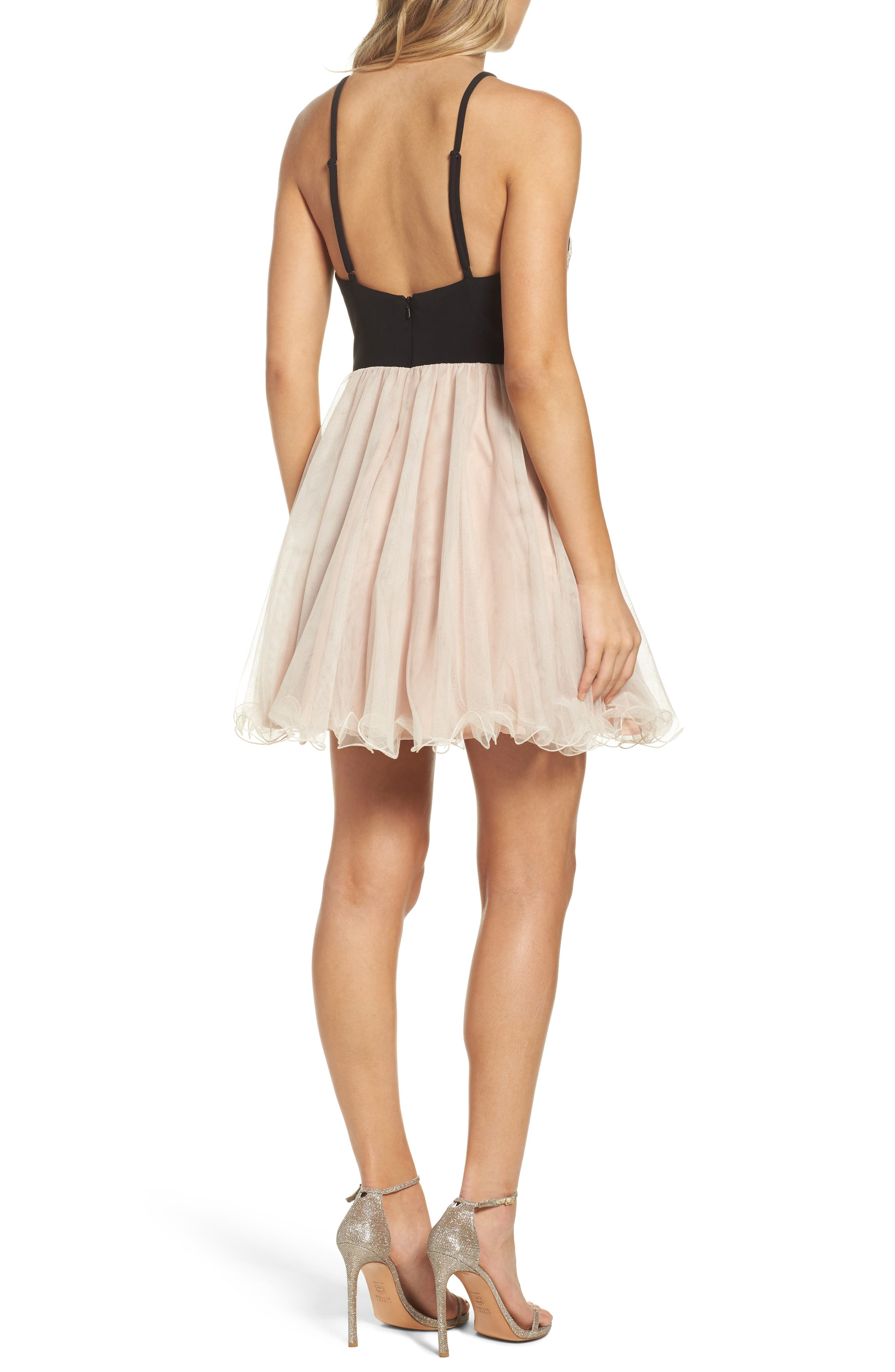 Appliqué Fit & Flare Dress,                             Alternate thumbnail 2, color,